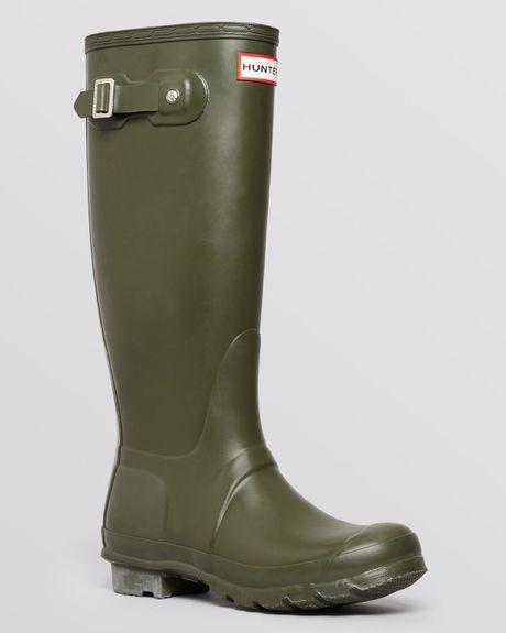 Hunter Rain Boots - Original Tall In Green Dark Olive  Lyst
