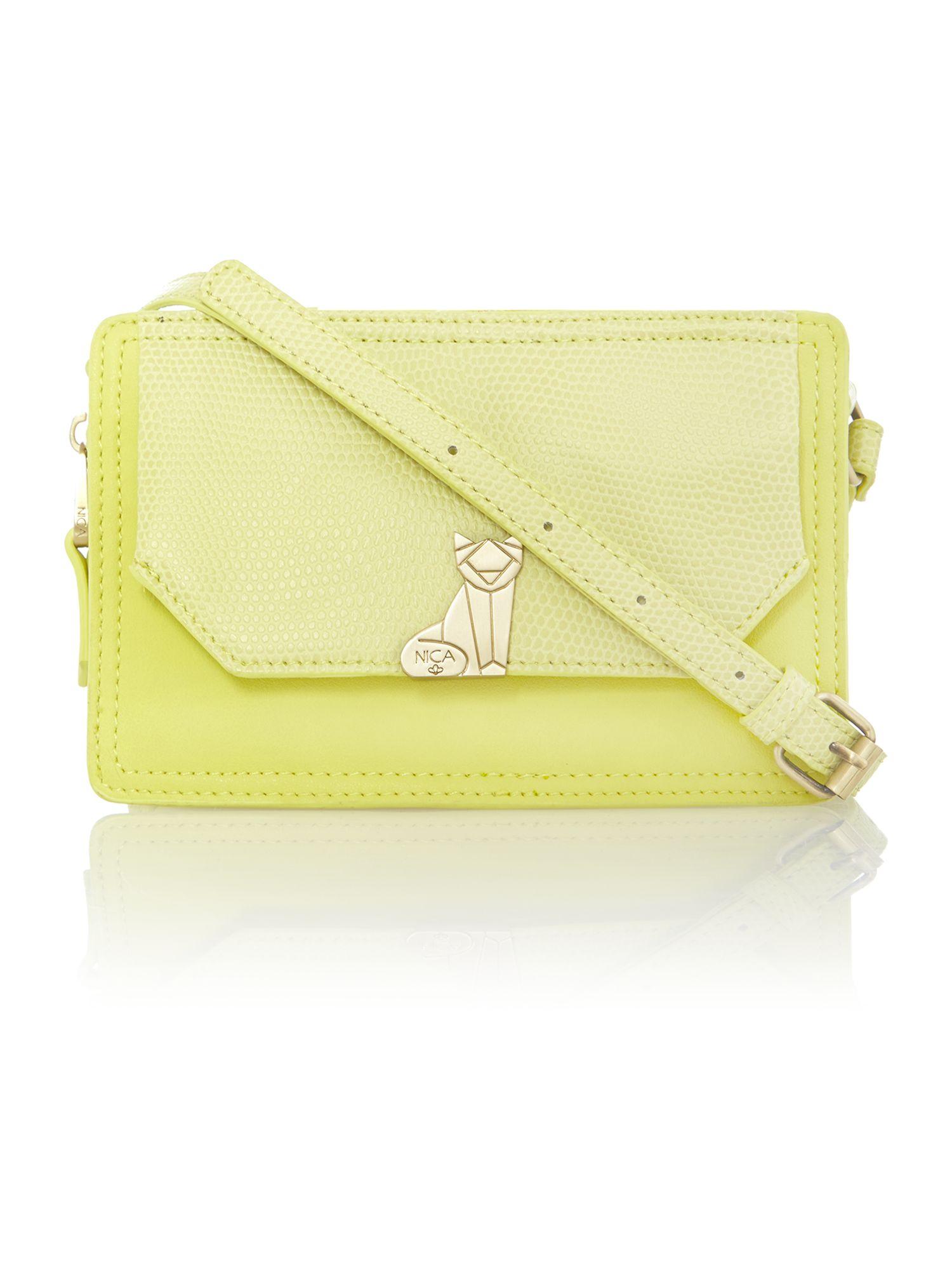 Nica Venice Yellow Crossbody Bag in Pink