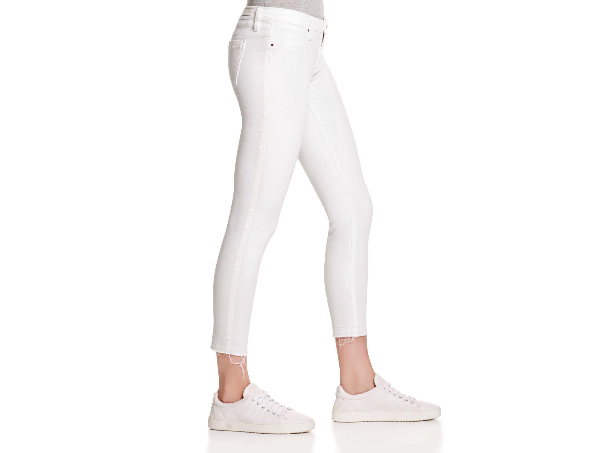 Blank Denim Skinny Cropped Jeans In White