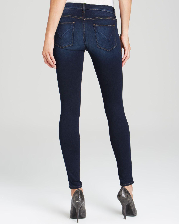 4b0154f2404 Hudson Jeans Metallic Jeans - Nico Mid Rise Super Skinny In Shambles