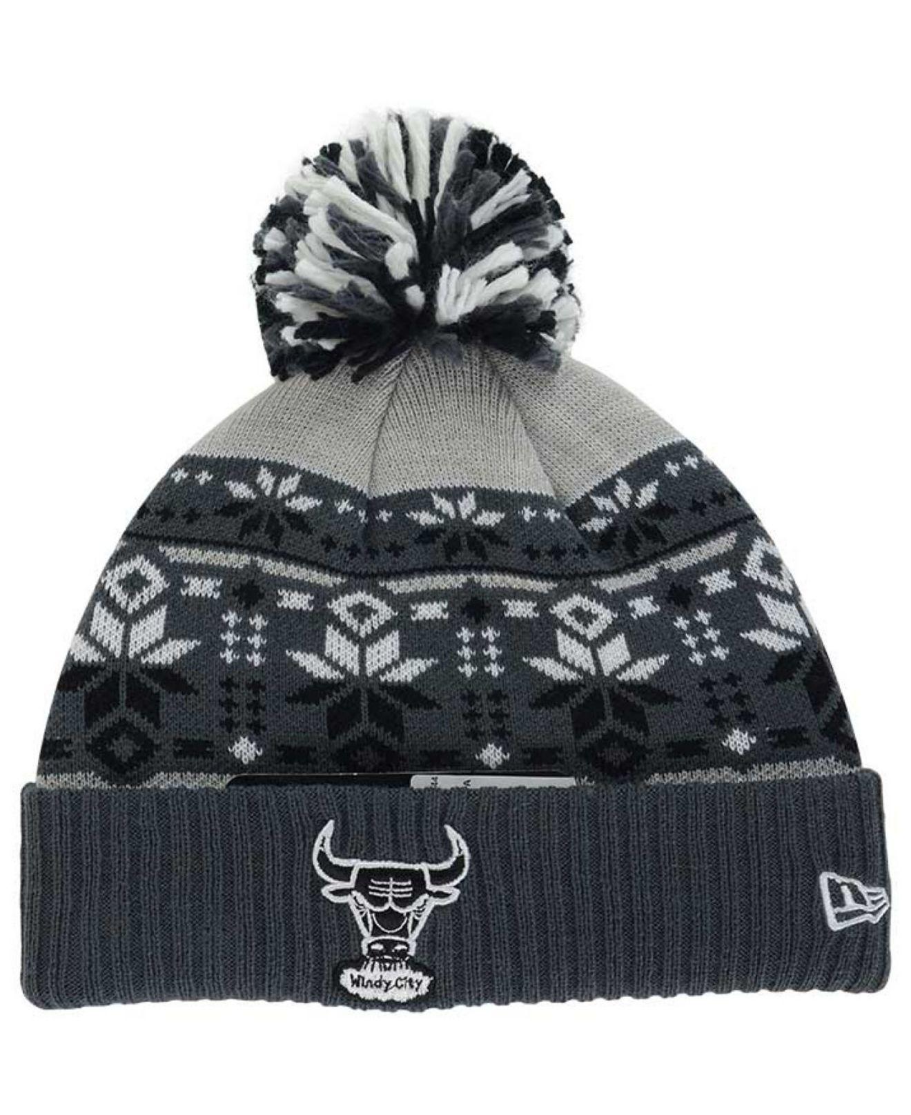 Lyst Ktz Chicago Bulls Flake Amp Shake Knit Hat In Black