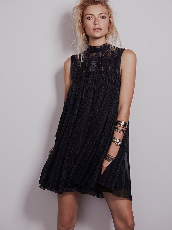 Lyst Free People Womens Babylon Dress In Black