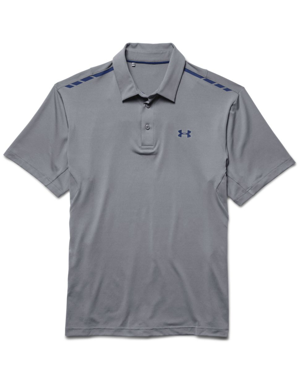 Under armour classic polo shirt in gray for men grey lyst for Gray under armour shirt