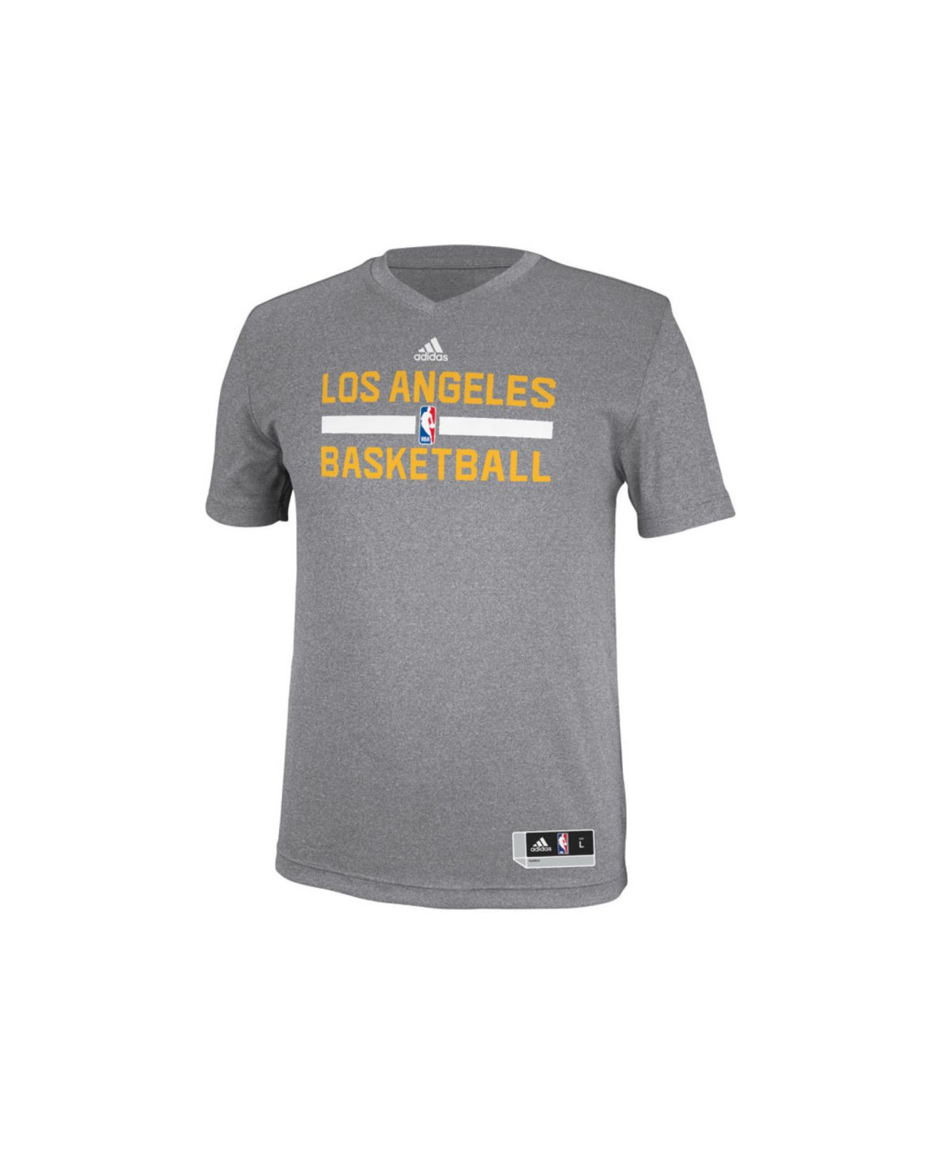 adidas Men'S Los Angeles Lakers Practice Graphic T-Shirt in Gray ...