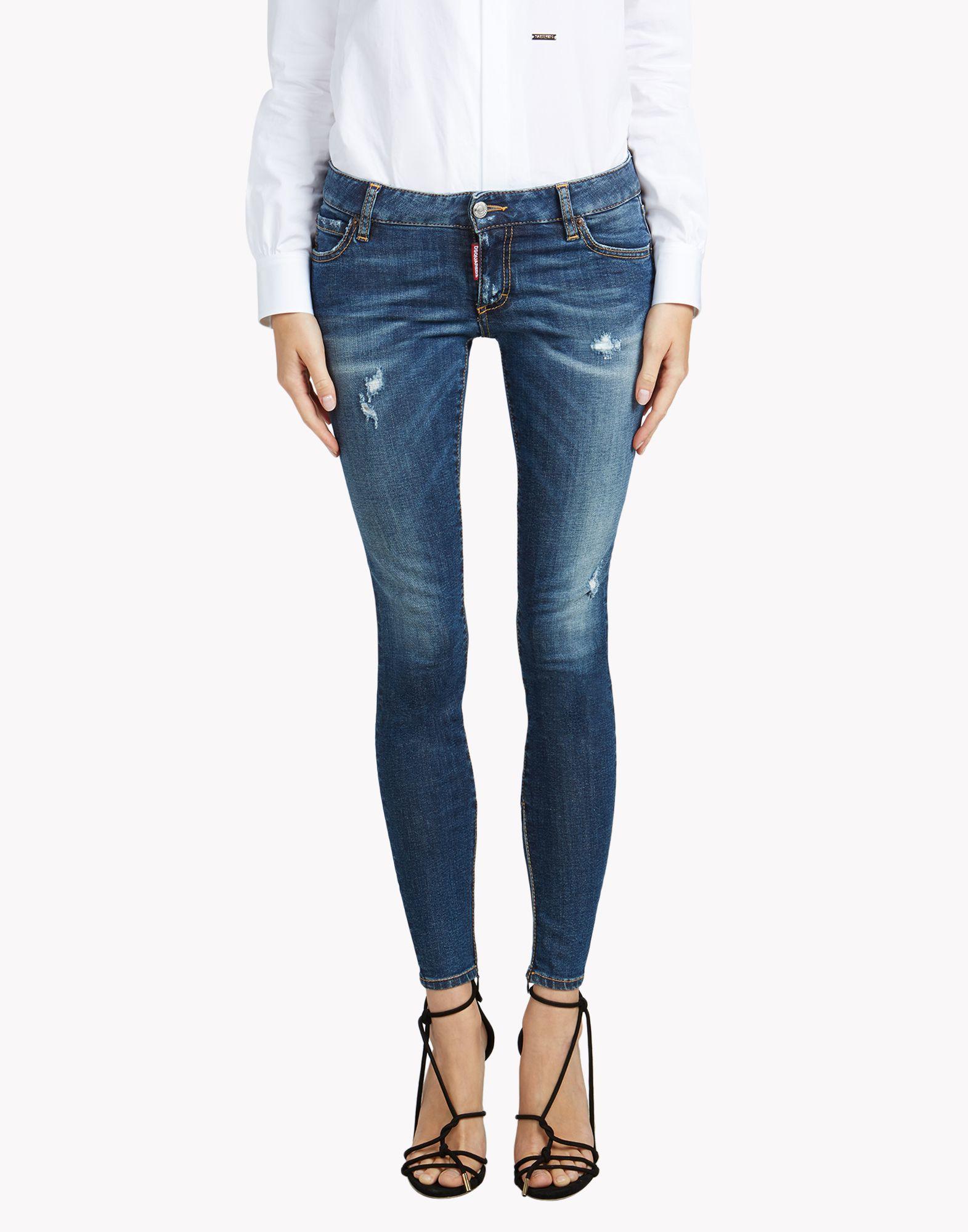 Twiggy cropped stretch denim jeans Dsquared2 THfBJbuJ
