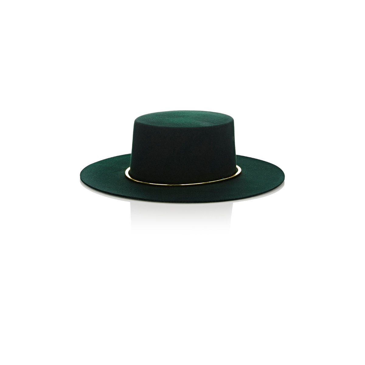 janessa crisiant bolero hat in green lyst