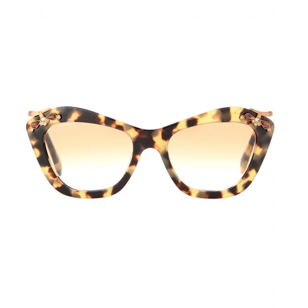 6ba3656407 Miu Miu Embellished Cat Eye Sunglasses