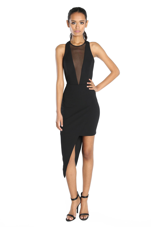 Abs by allen schwartz Amanda Asymmetrical Hem Cocktail Dress in ...