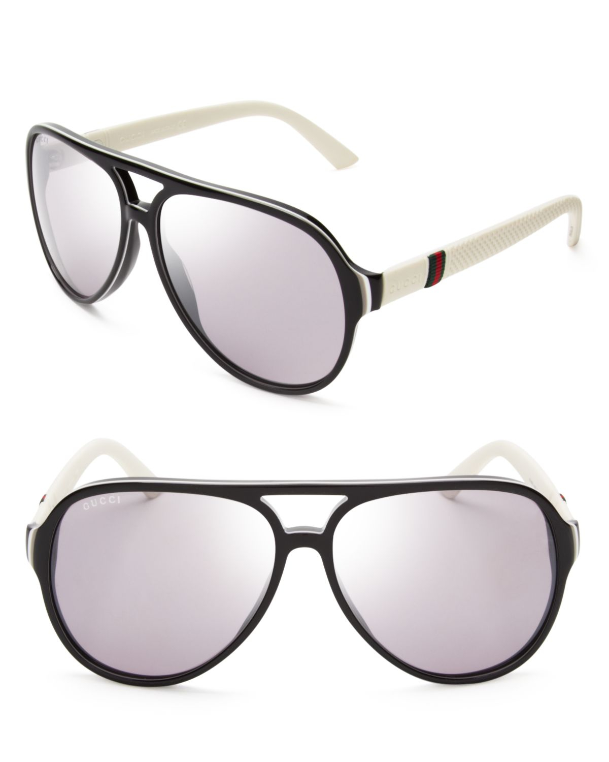 Gucci Mirrored Sunglasses  gucci mirrored aviator sunglasses in black lyst