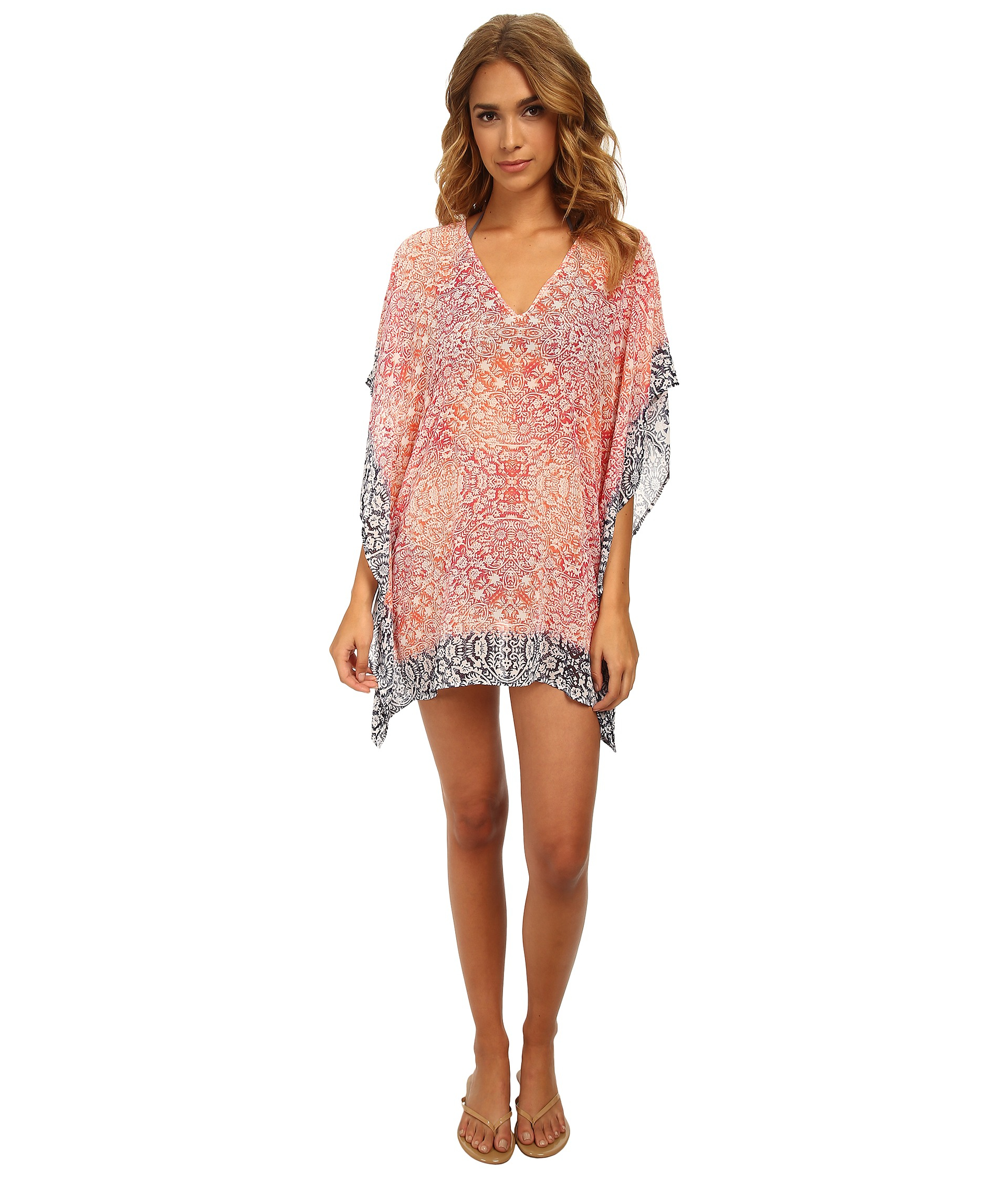 5a607dd34b Lyst - Tommy Bahama Coral Medallion Tunic Cover-up in Pink