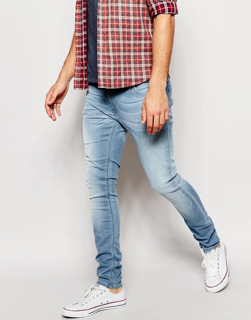 Nudie jeans Skinny Lin Super Skinny Fit Pale River Light Wash in ...