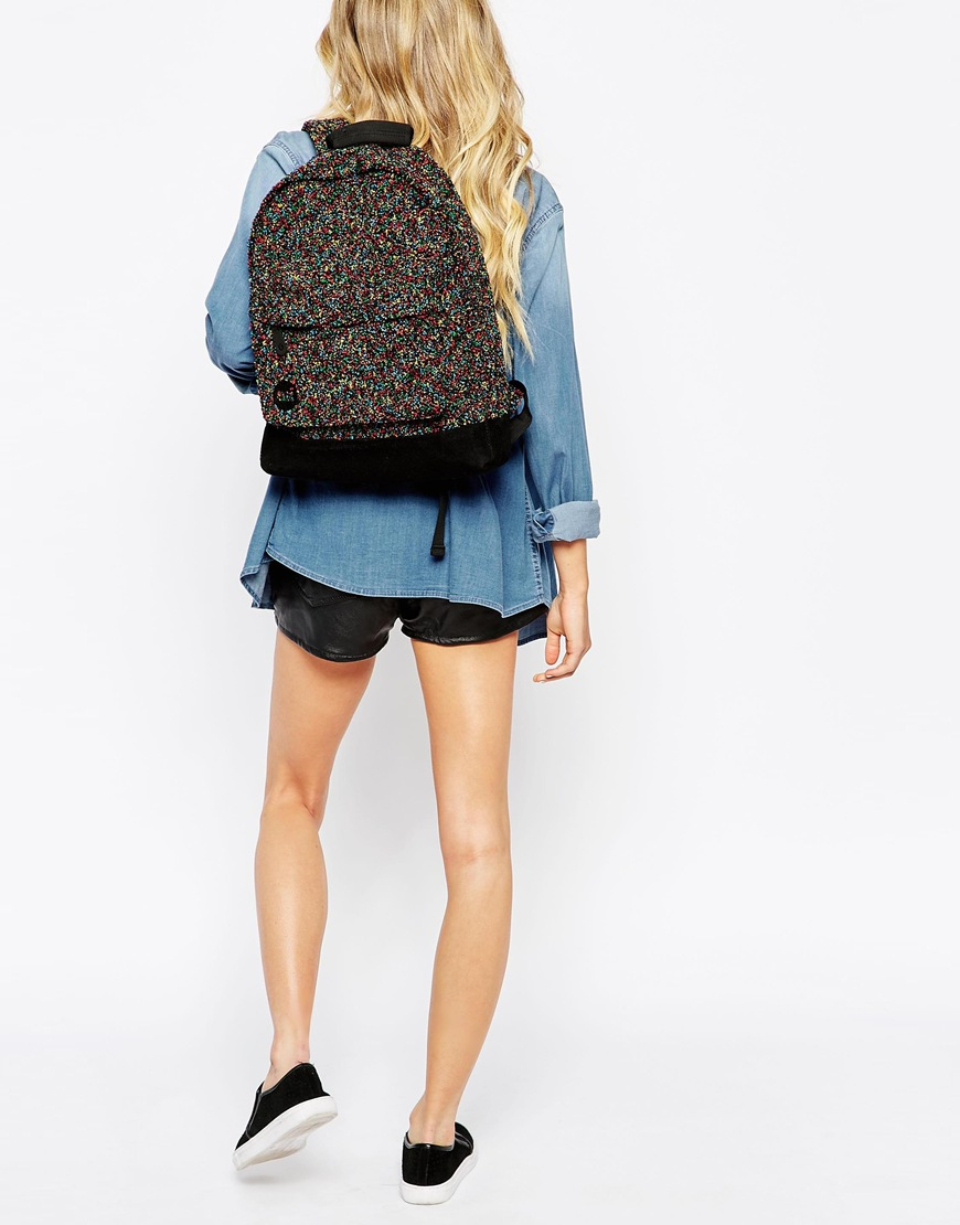 Backpack In Colored Boucle
