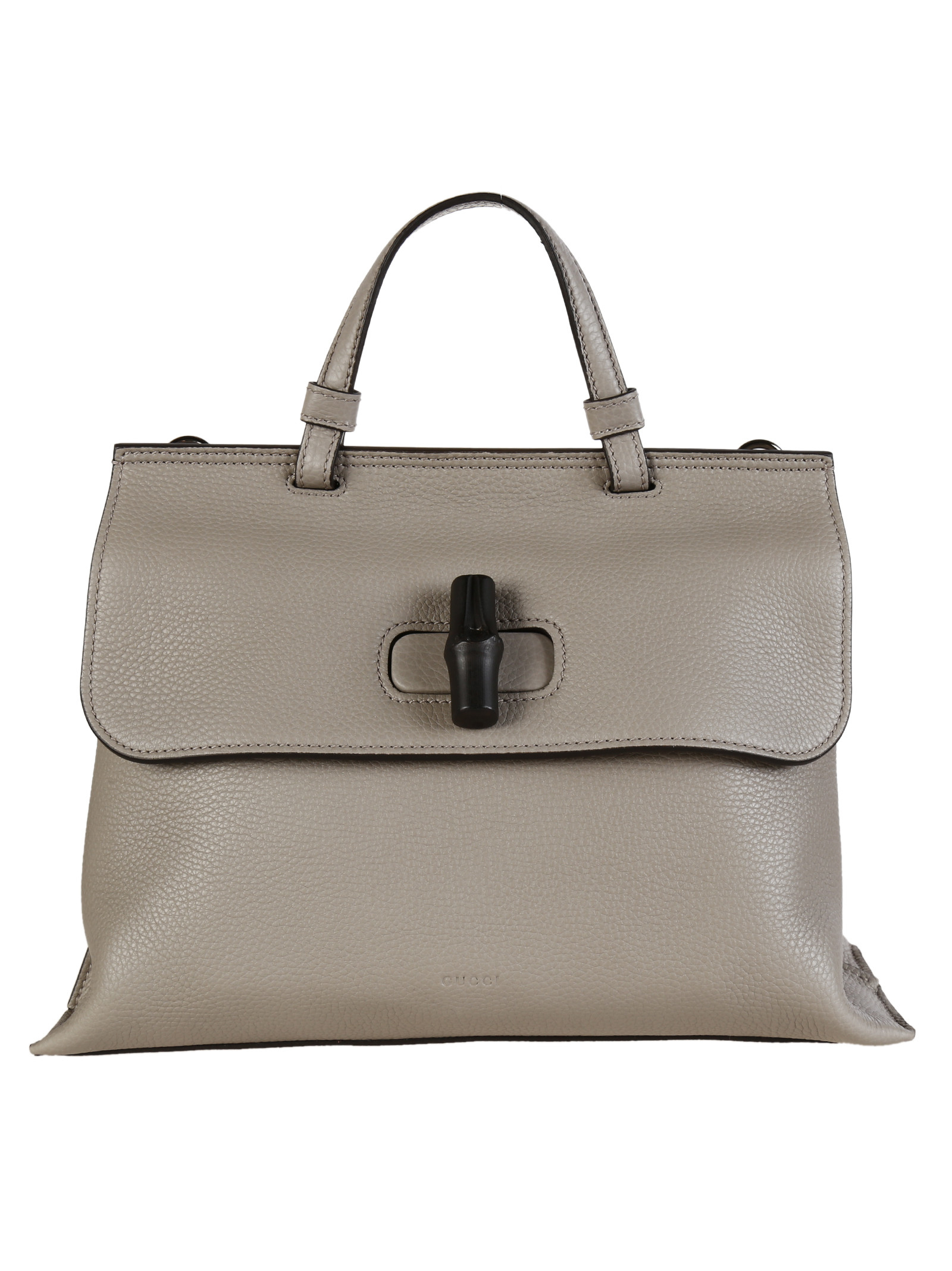 ec42e2304336 Gucci Cellarius Leather Bamboo Daily Top Handle Bag in Gray (Storm Gray) |  Lyst