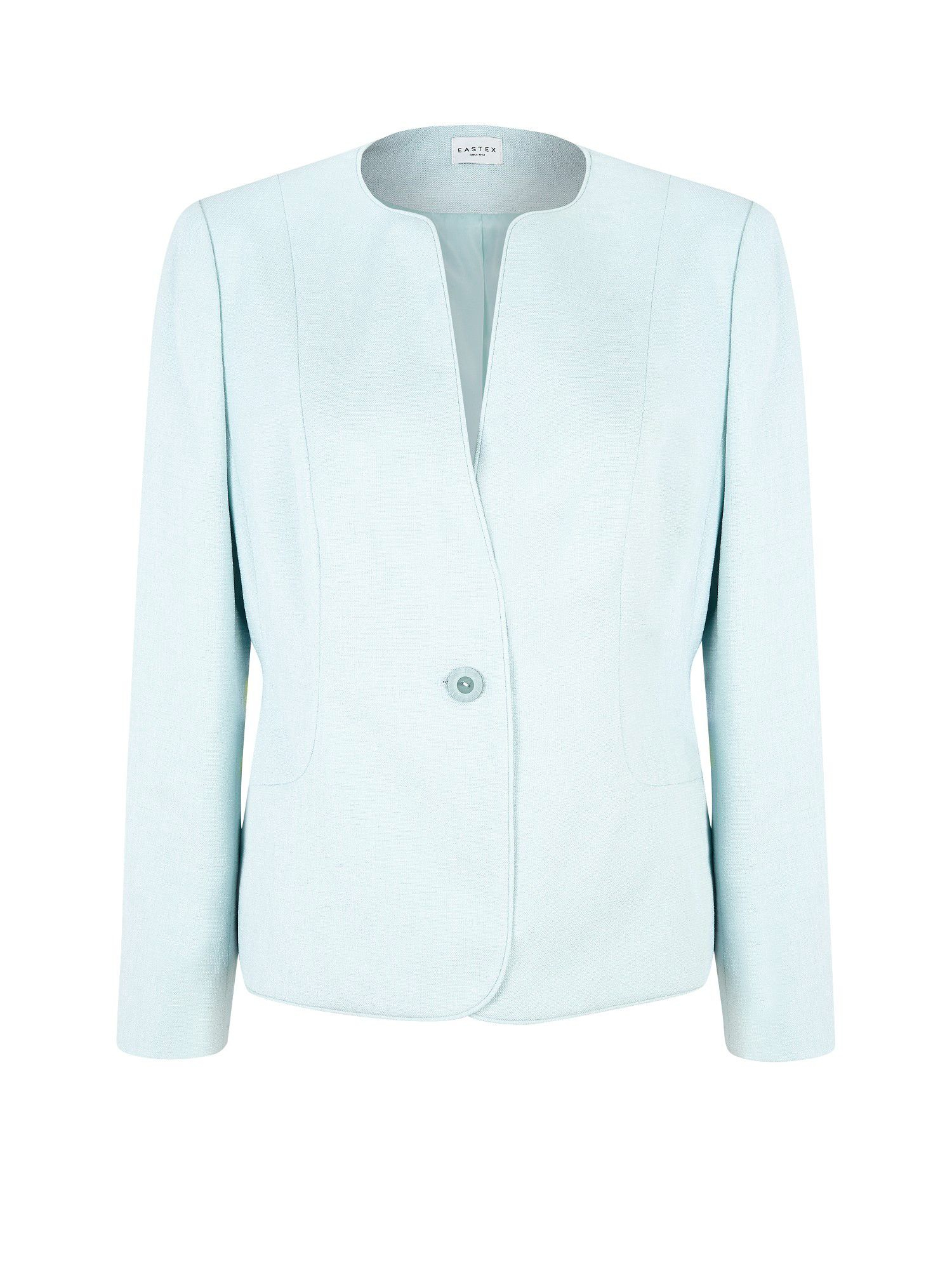 Eastex Mint Green Tailored Collarless Jacket in Blue | Lyst