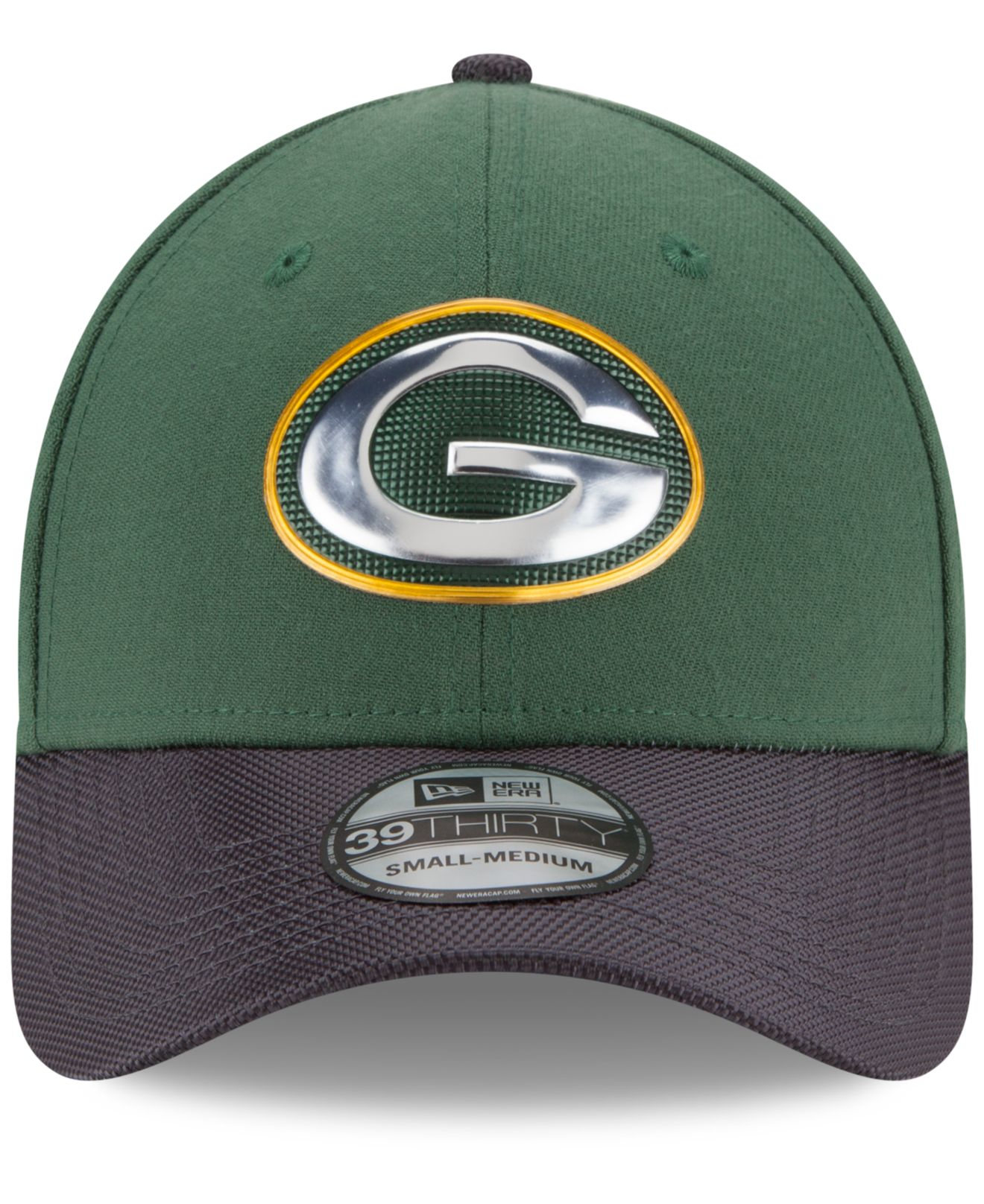 898f1ddb KTZ Green Bay Packers Gold Collection On-field 39thirty Cap for men