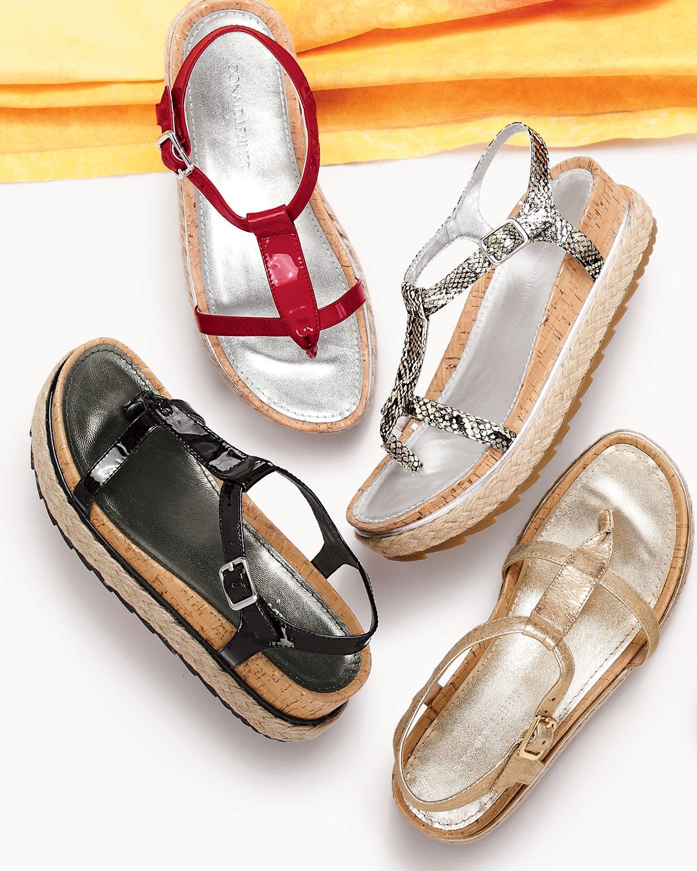 Lyst Donald J Pliner Cleo Brushed Leather Thong Sandal