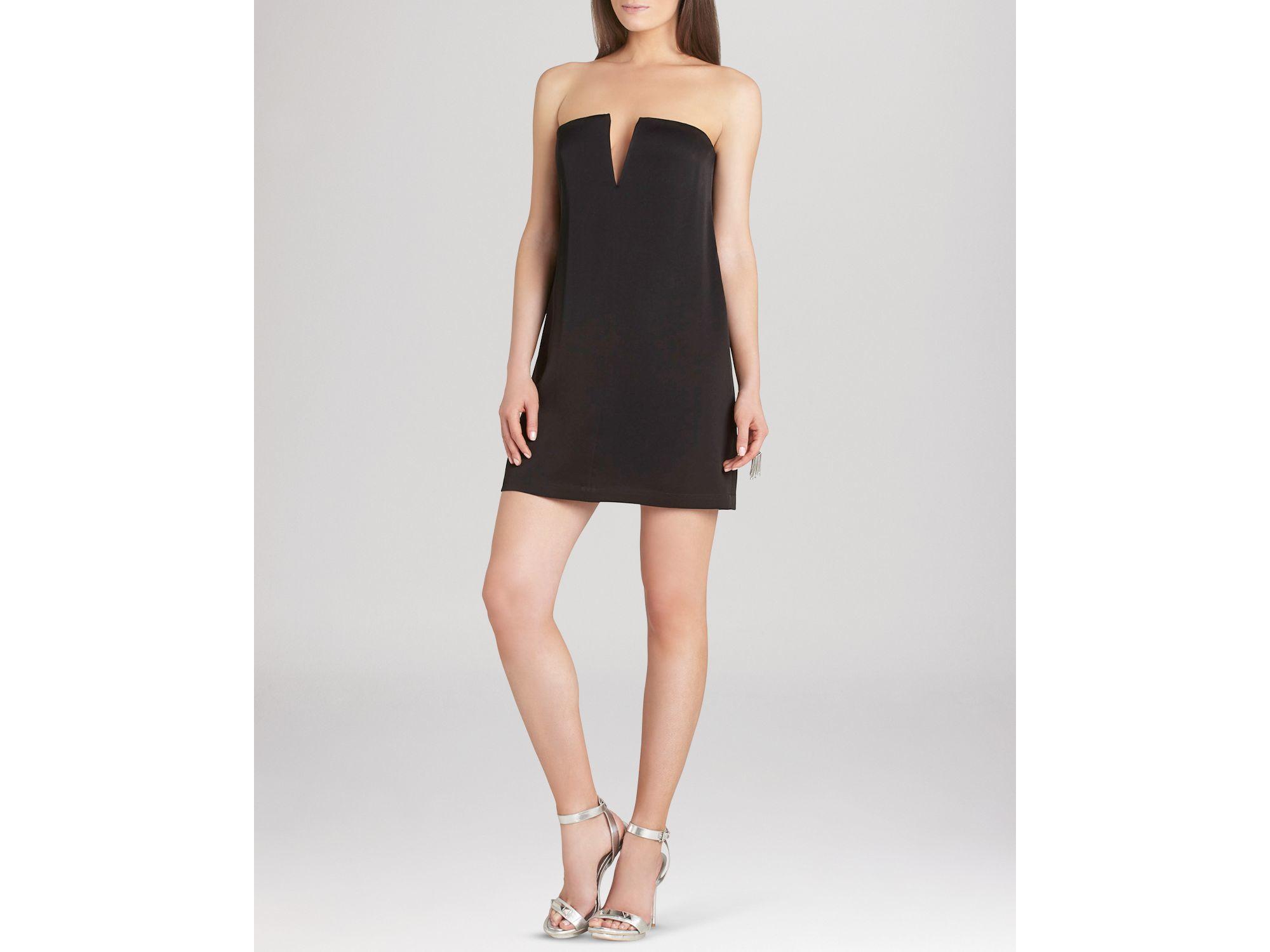 6ab55ab759b0 Lyst - BCBGMAXAZRIA Nahara Strapless Mini Dress in Black