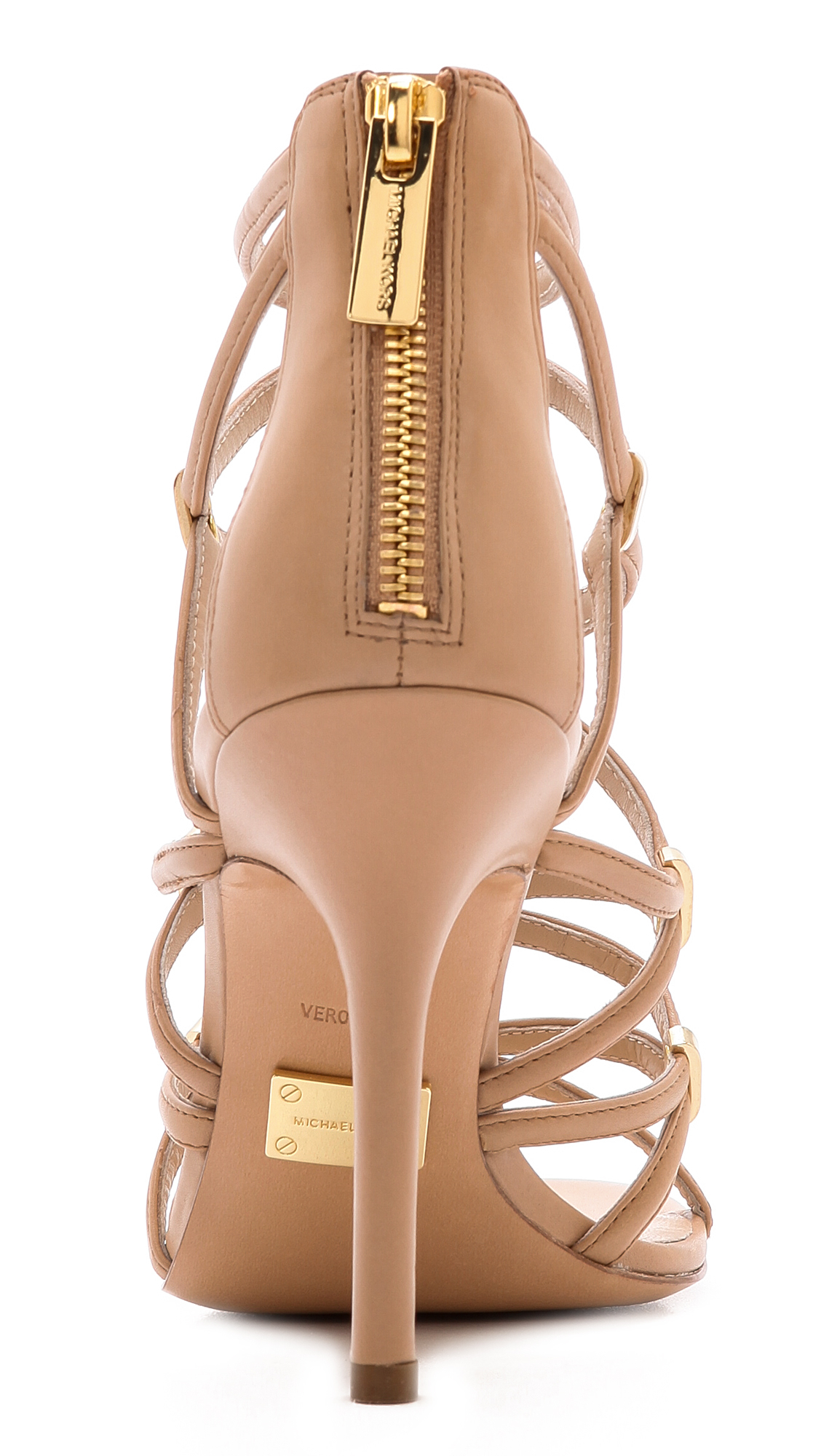 Michael Kors Charlene Strappy Sandals - Toffee in Brown - Lyst
