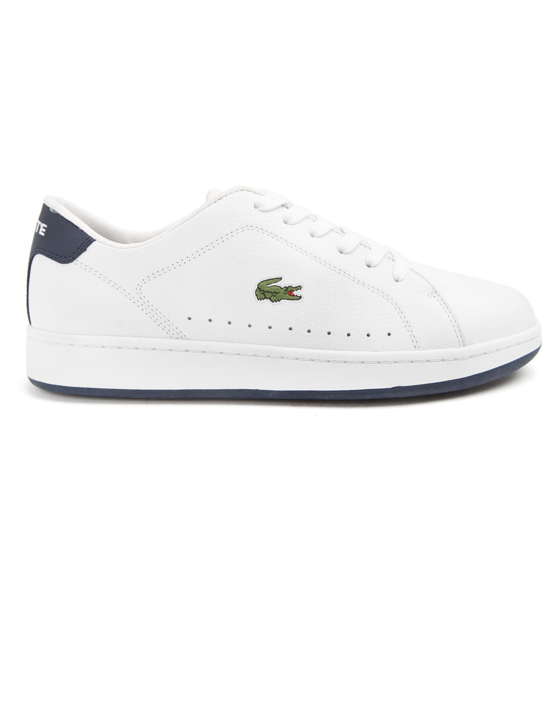 lacoste carnaby white leather sneakers in white for lyst
