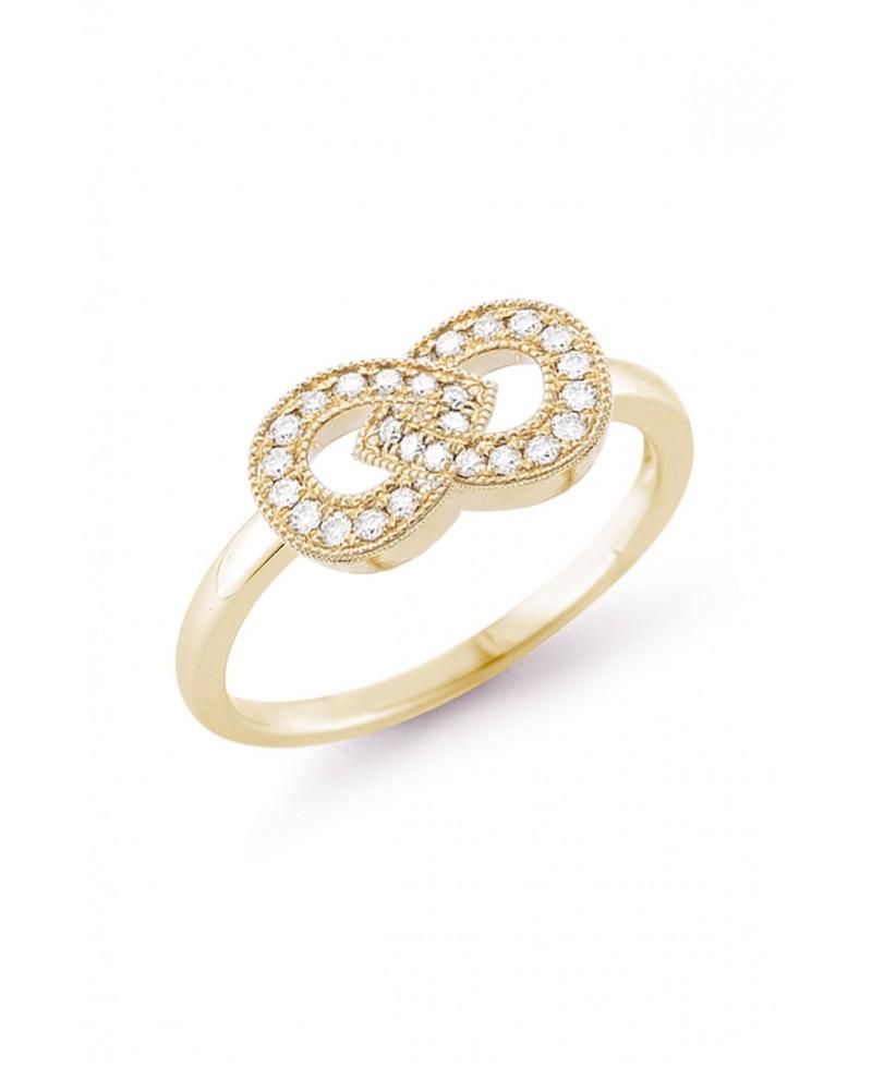 Dana Rebecca Samantha Lynn Diamond Ring In Yellow Gold Lyst