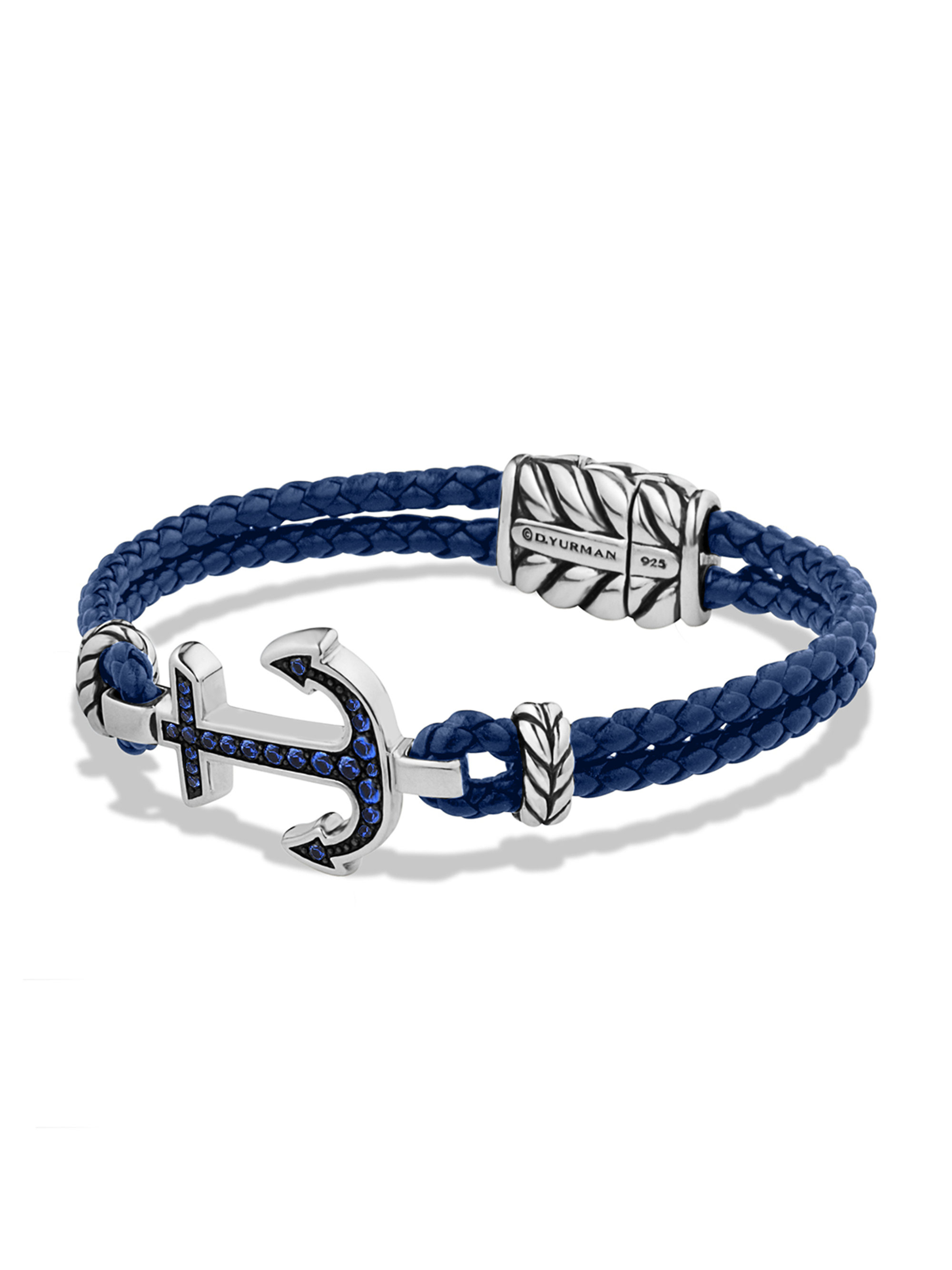 david yurman pav 201 anchor bracelet in blue for lyst