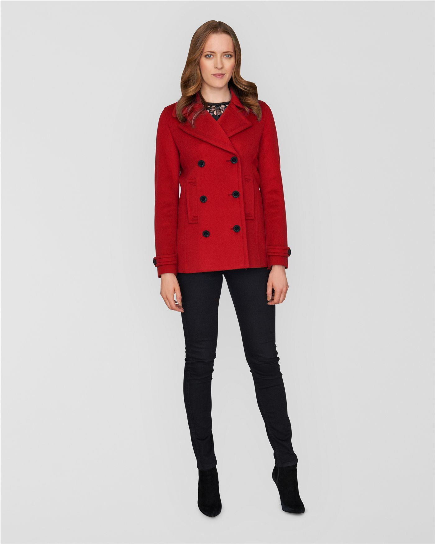 Short Red Coat - JacketIn