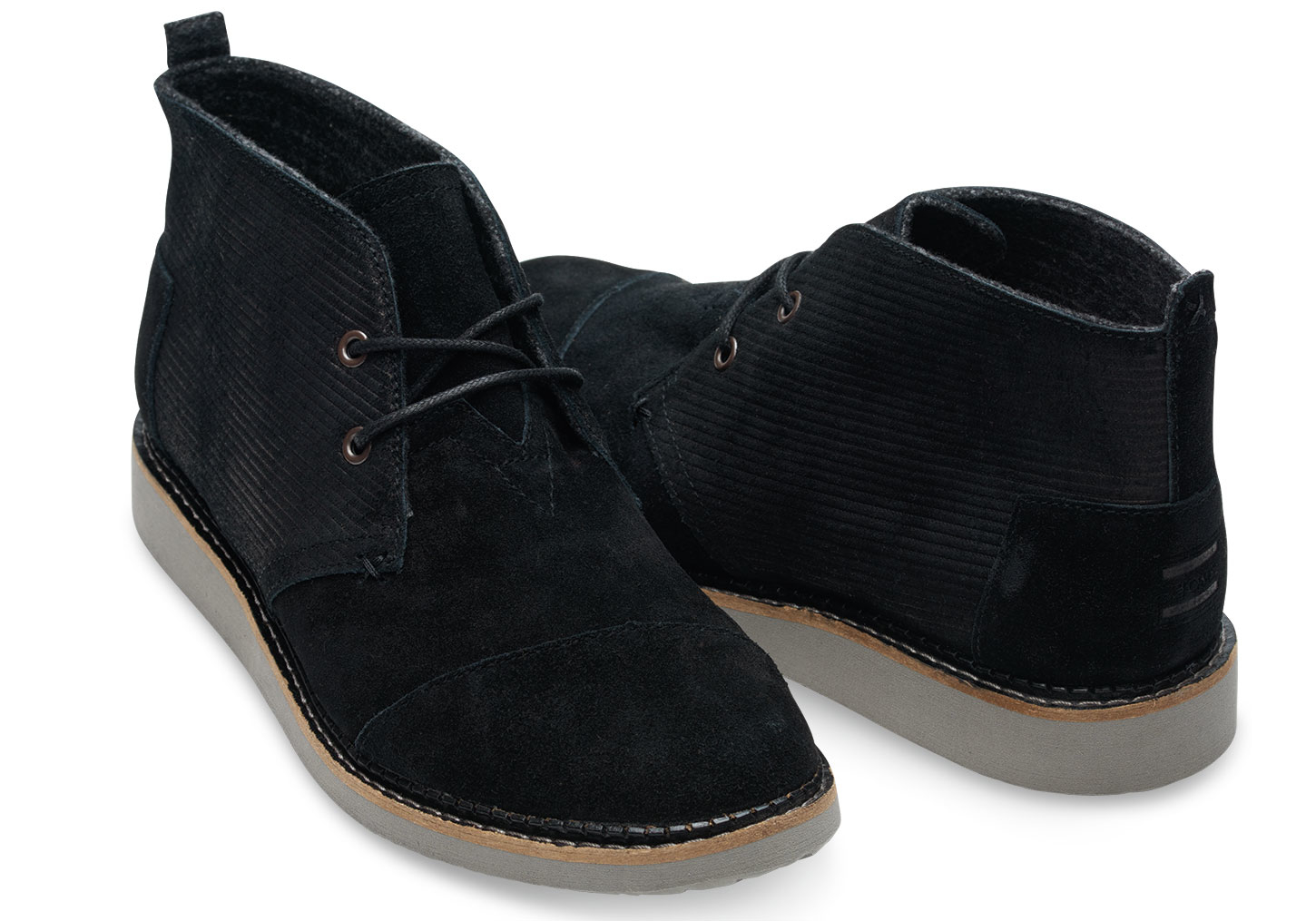 Toms Black Embossed Suede Men&39s Mateo Chukka Boots in Black for