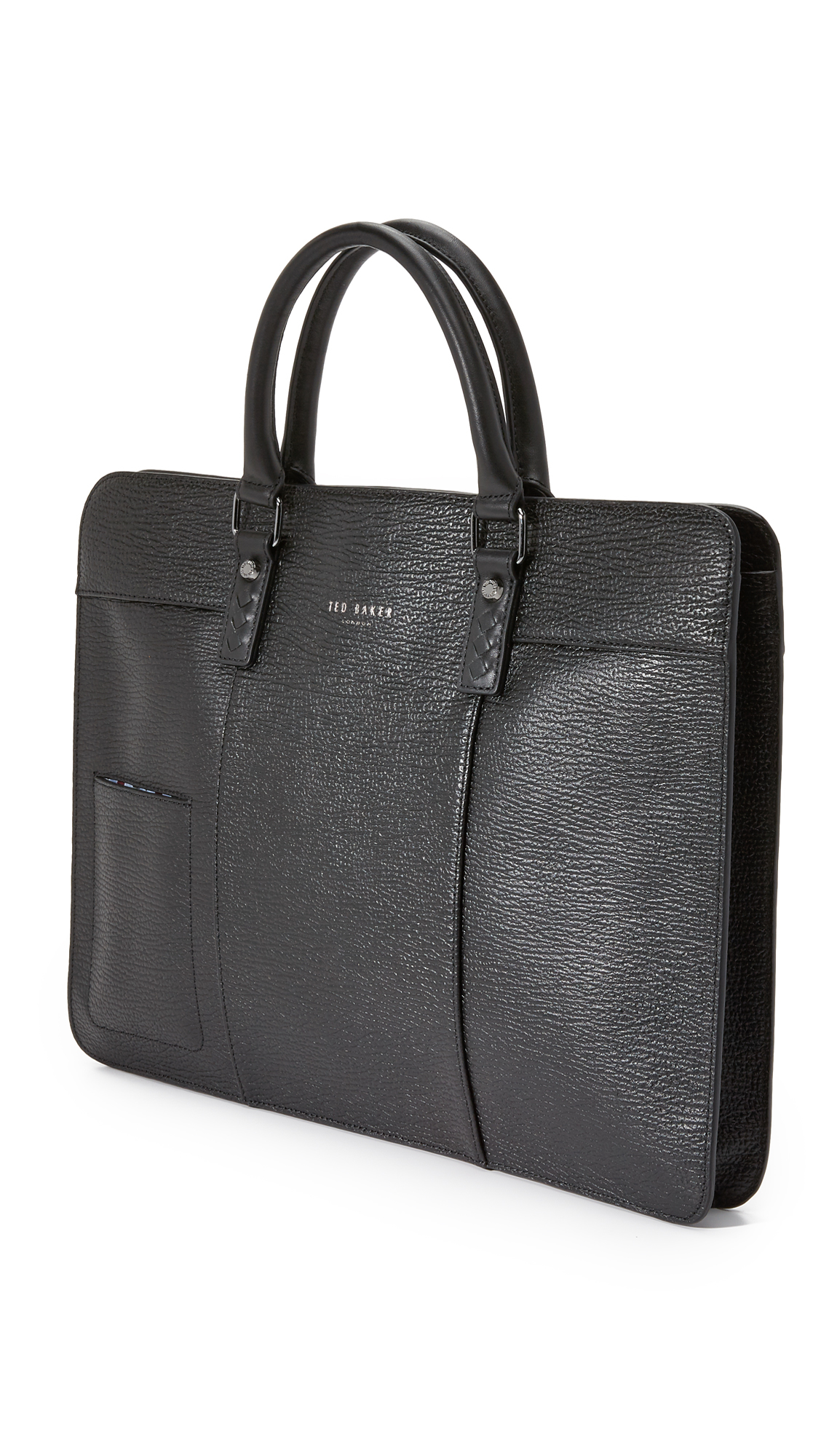 Lyst Ted Baker Elomoto Slim Leather Briefcase In Black