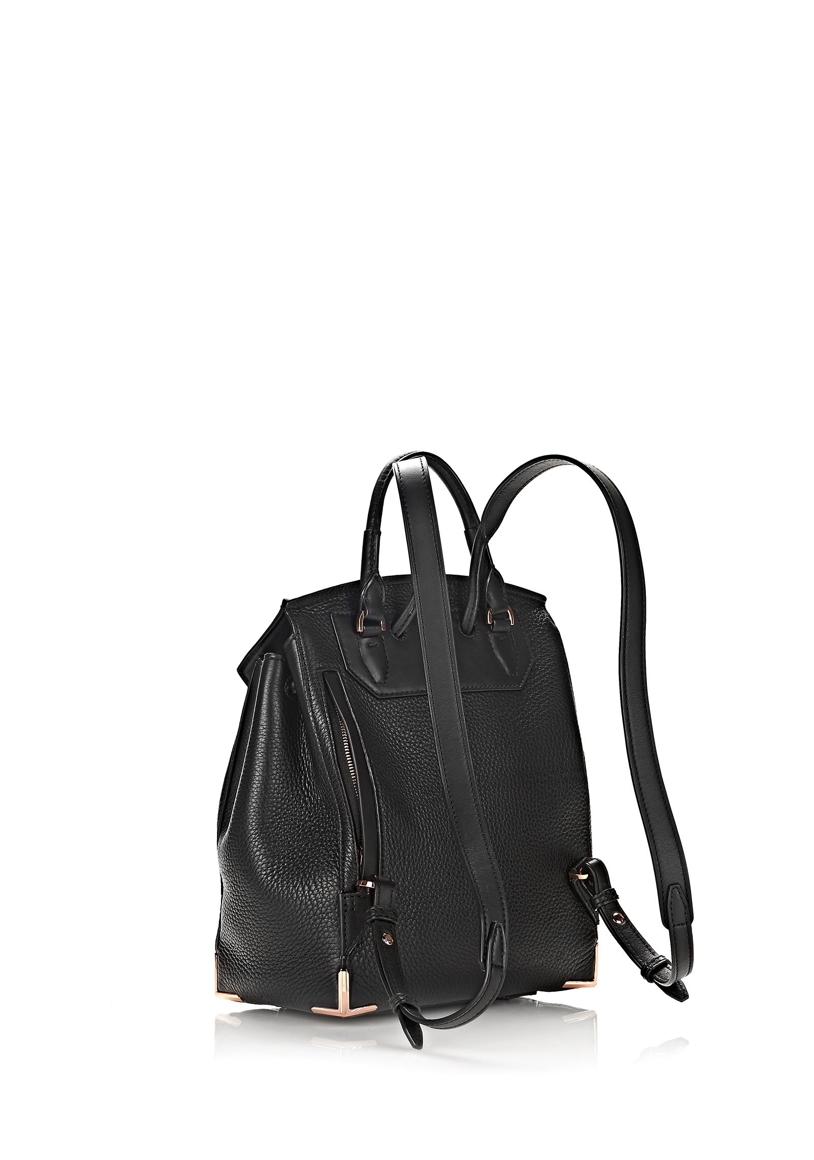 a5c9ee20cb Lyst - Alexander Wang Mini Prisma Leather Backpack in Black