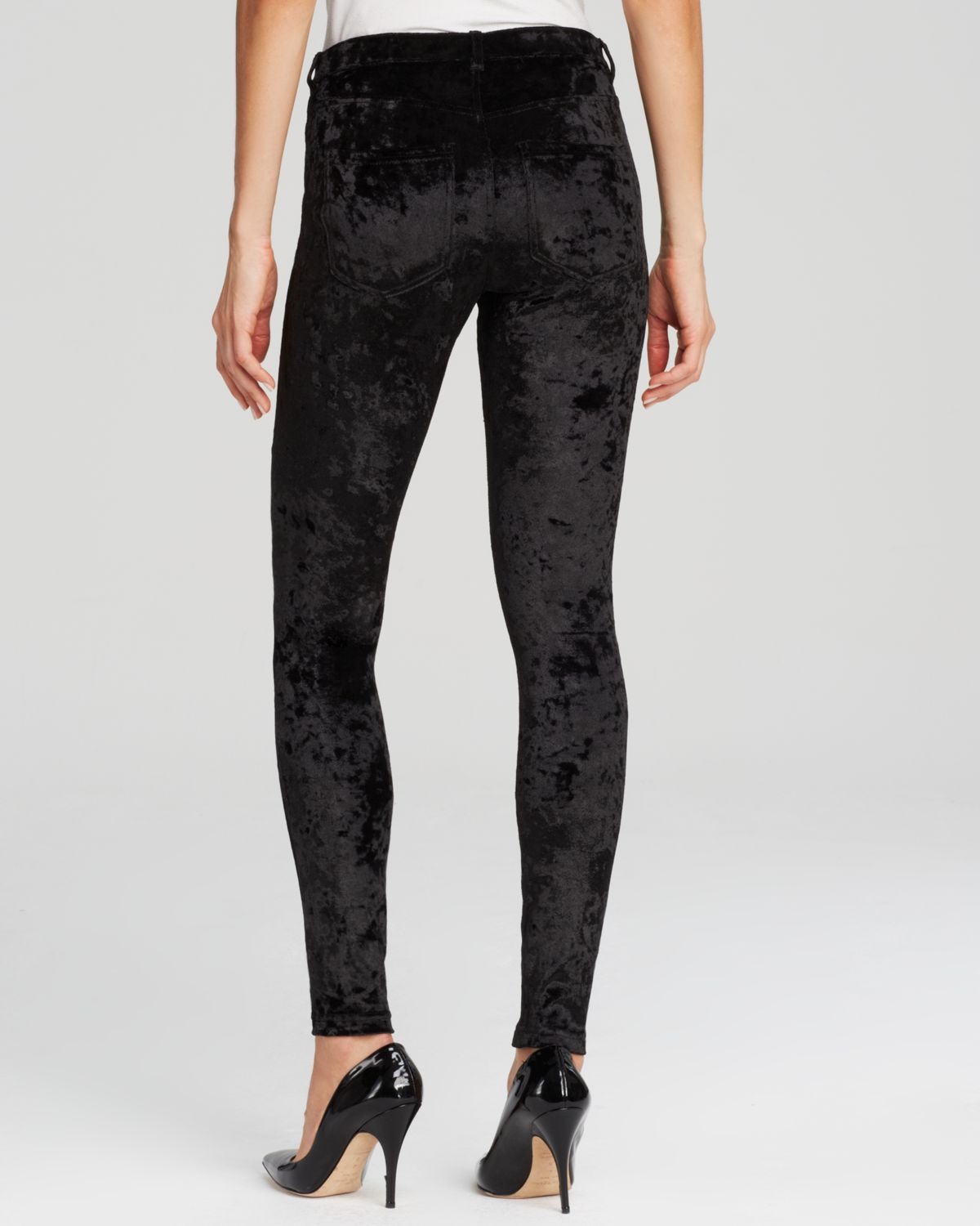 cbdb46caa7490 Hue Crushed Velvet Leggings in Black - Lyst