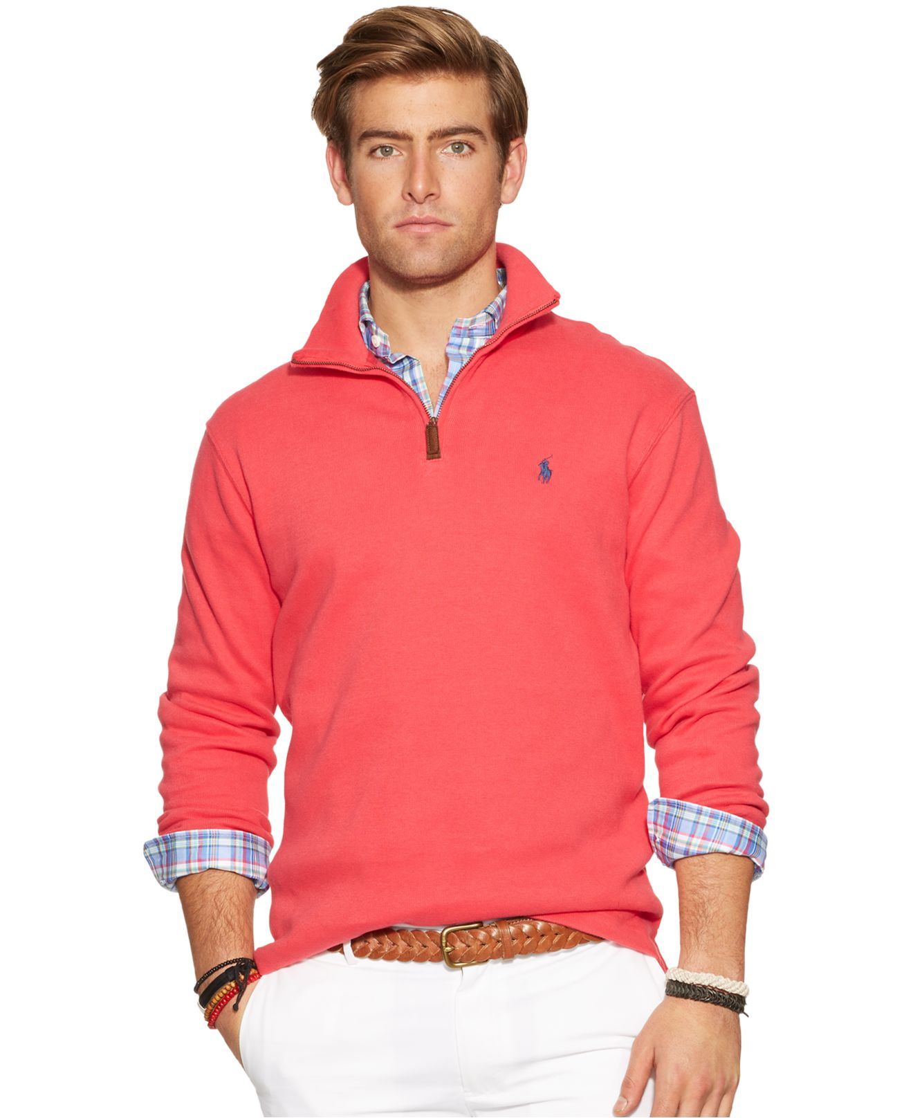 polo ralph lauren french rib mockneck pullover in red for men lyst. Black Bedroom Furniture Sets. Home Design Ideas