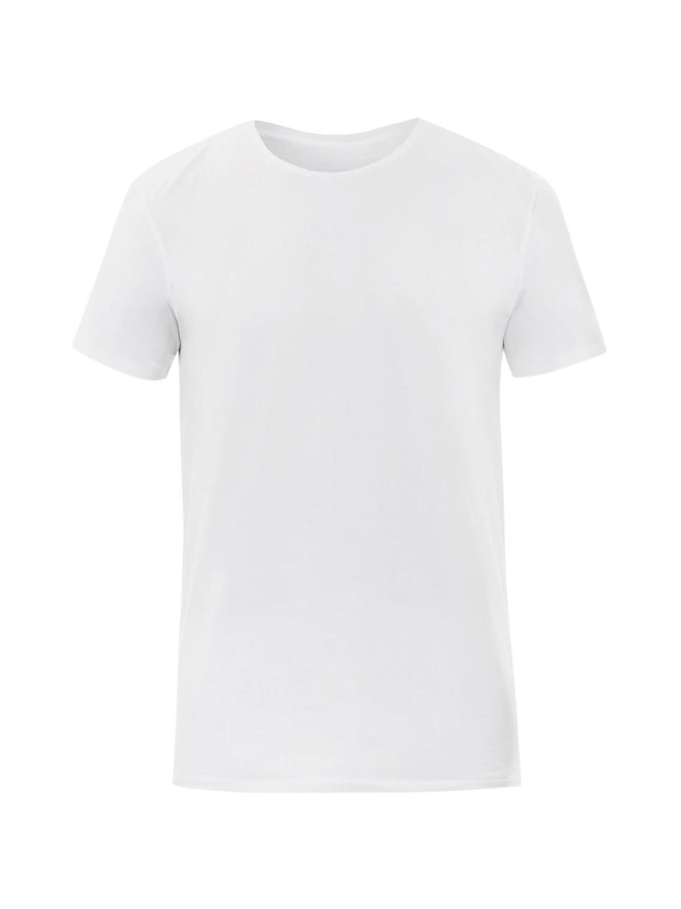 Derek rose pima cotton crew neck t shirt in white for men for Pima cotton crew neck t shirt