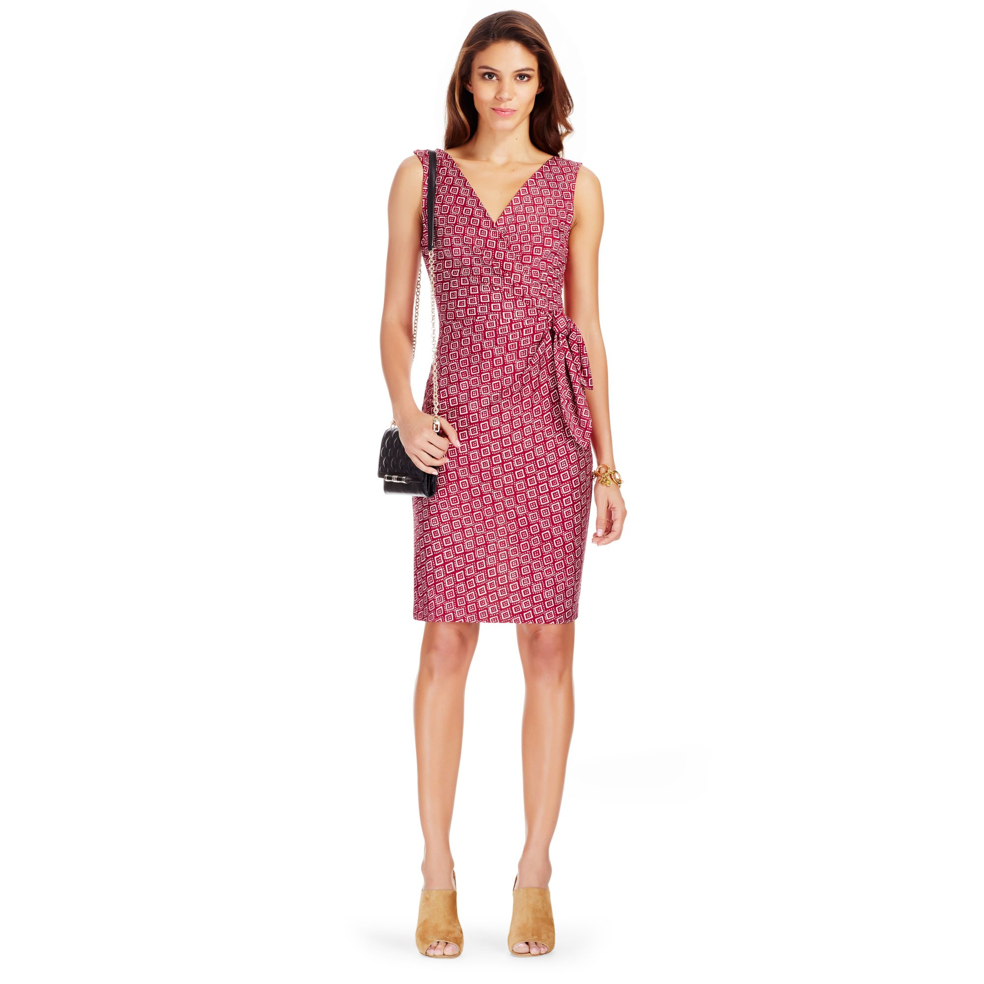 diane von furstenberg dvf bella silk jersey sheath dress in pink lyst. Black Bedroom Furniture Sets. Home Design Ideas