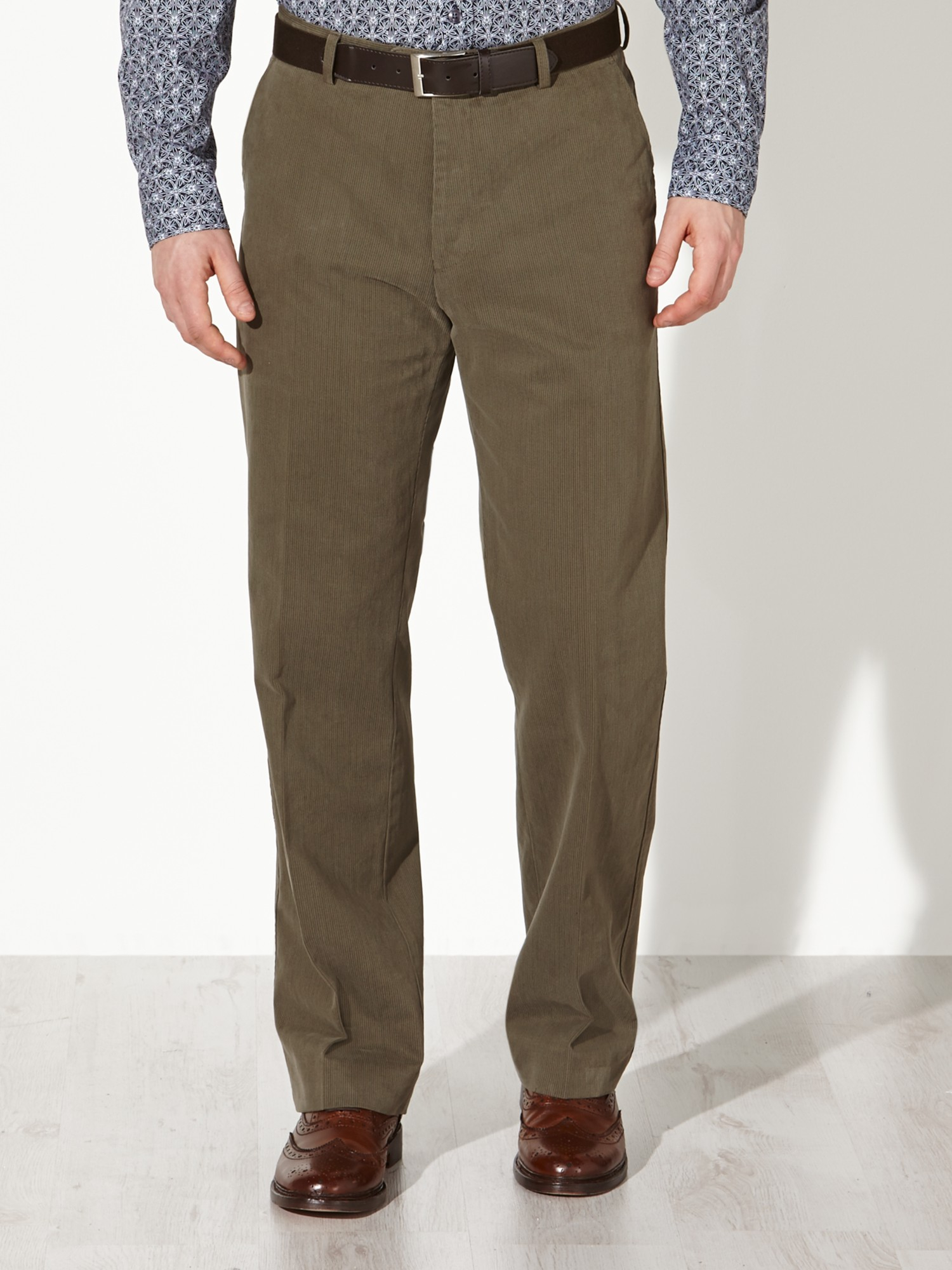 John Lewis Semi Formal Fine Stripe Stretch Trousers in Taupe (Brown) for Men