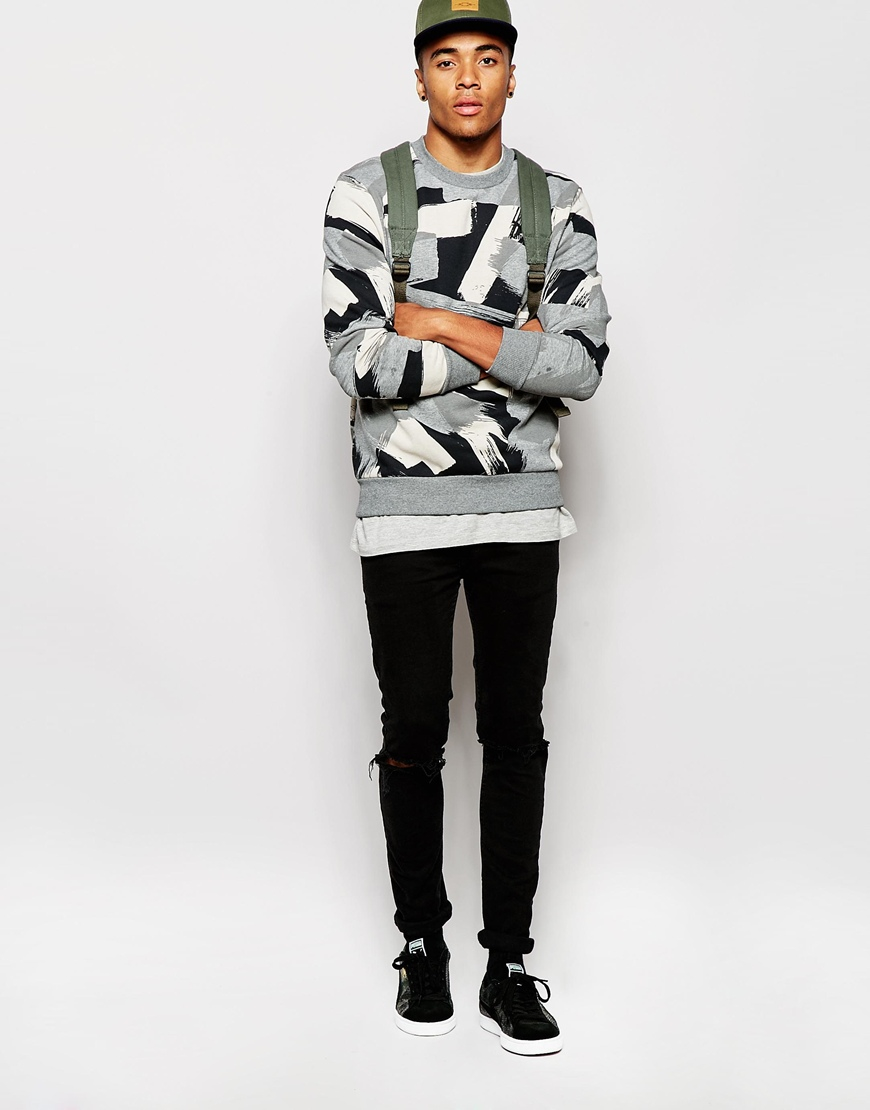 Puma Evolution Sweatshirt in Gray for Men