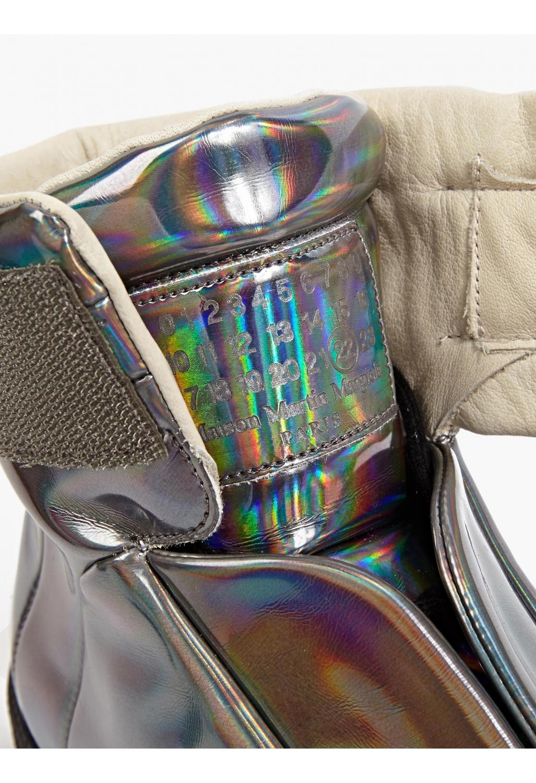 Maison margiela 22 silver leather future hi top sneakers for Maison margiela 22