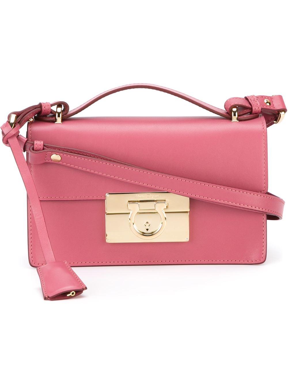 Ferragamo Aileen Shoulder Bag in Pink | Lyst