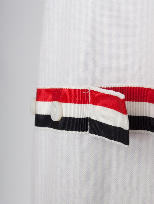 Thom Browne Pinstripe Oxford Shirt with Arm Straps Whiteblue for Men