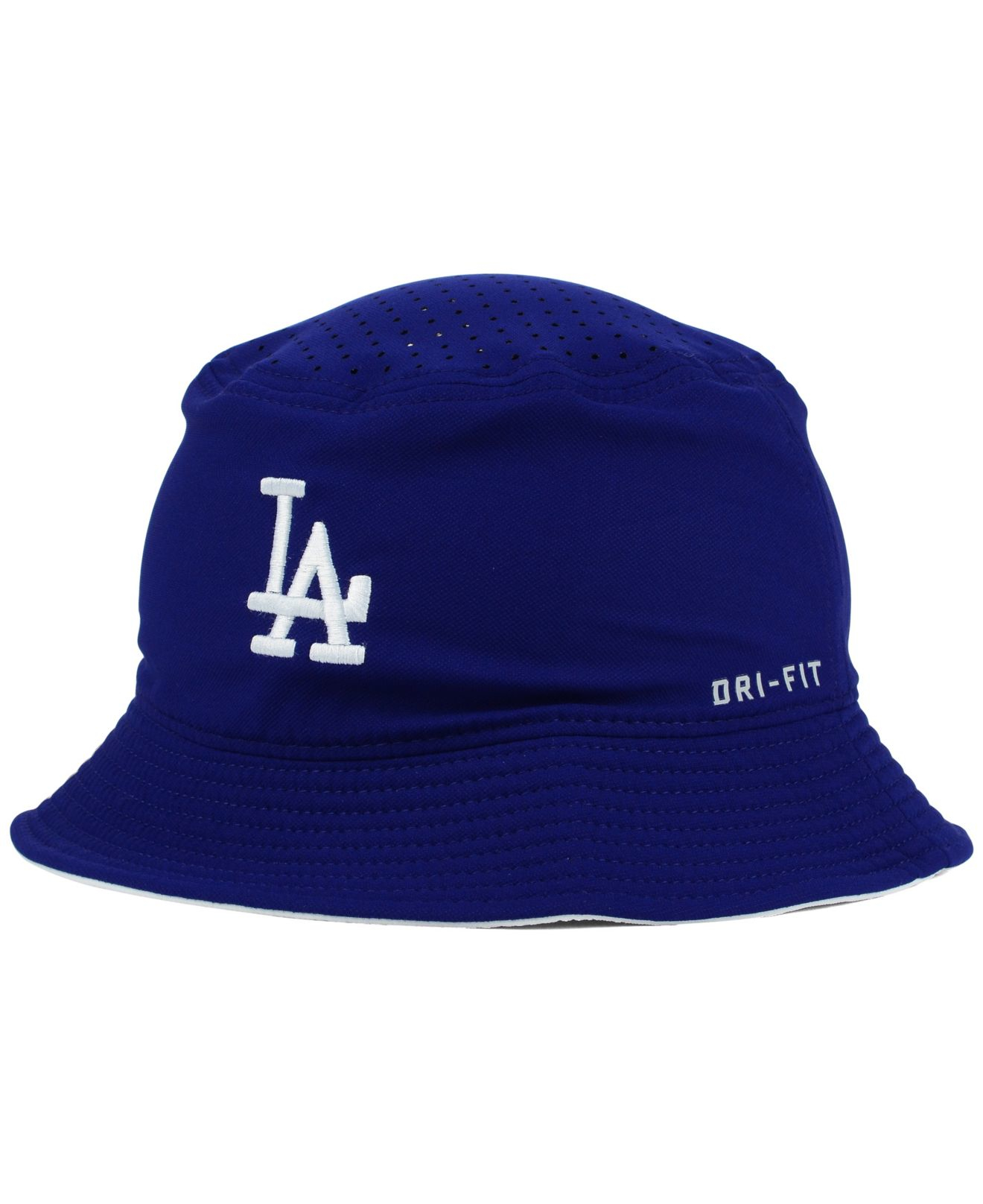 promo code ee760 9b575 ... discount code for lyst nike los angeles dodgers vapor dri fit bucket hat  in blue for