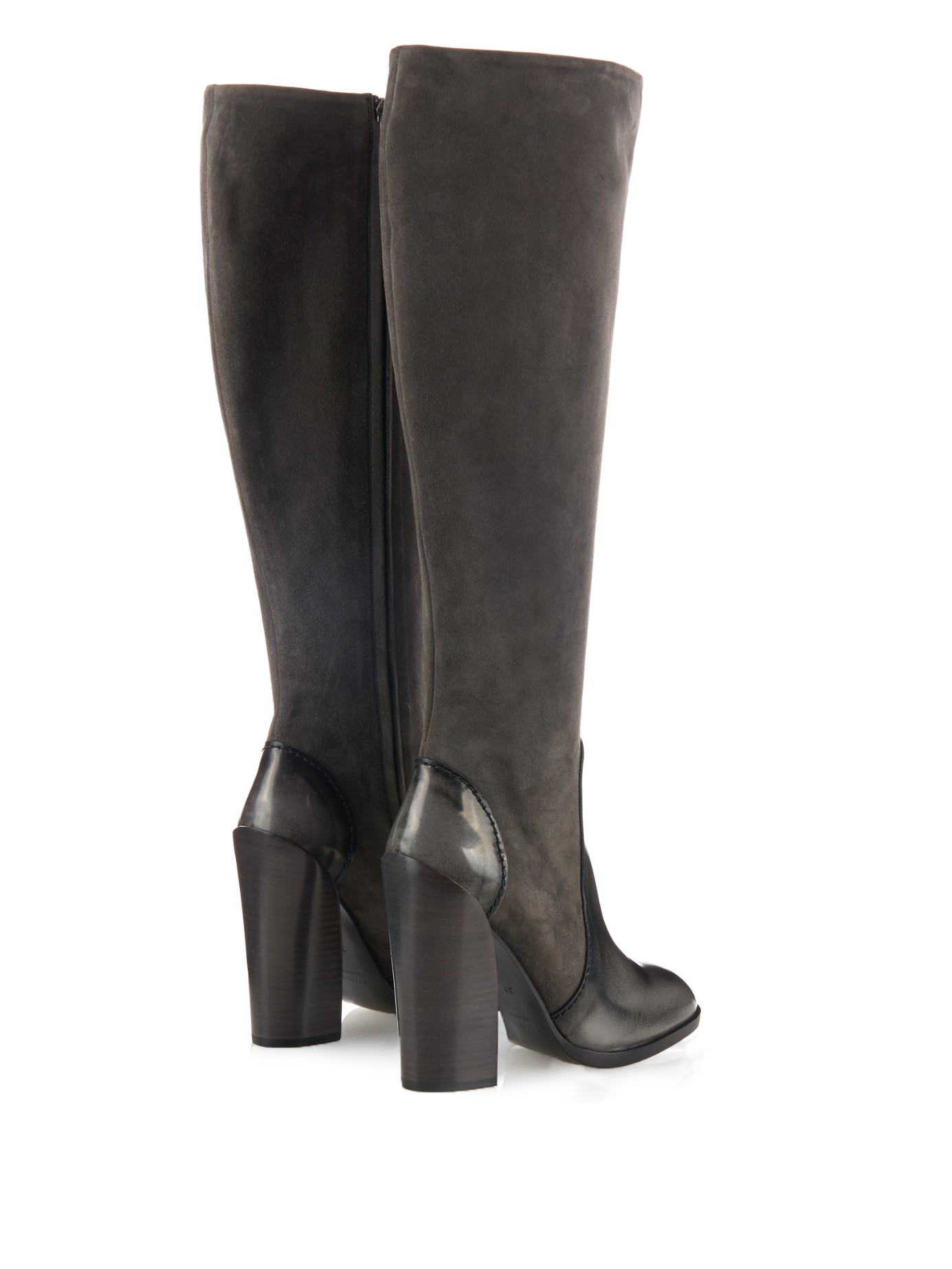 limited edition cheap price sale for nice Jil Sander Leather Wedge Knee-High Boots free shipping in China uwRJV