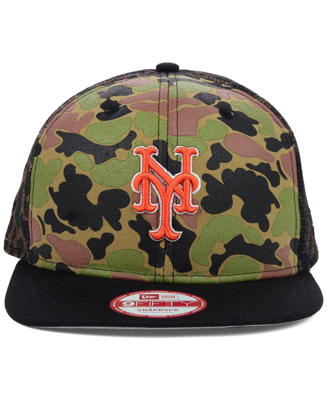 6237ece1194 ... lowest price 6d301 e7920 Lyst - Ktz New York Mets Camo Face Mesh Trucker  9fifty Snapb ...