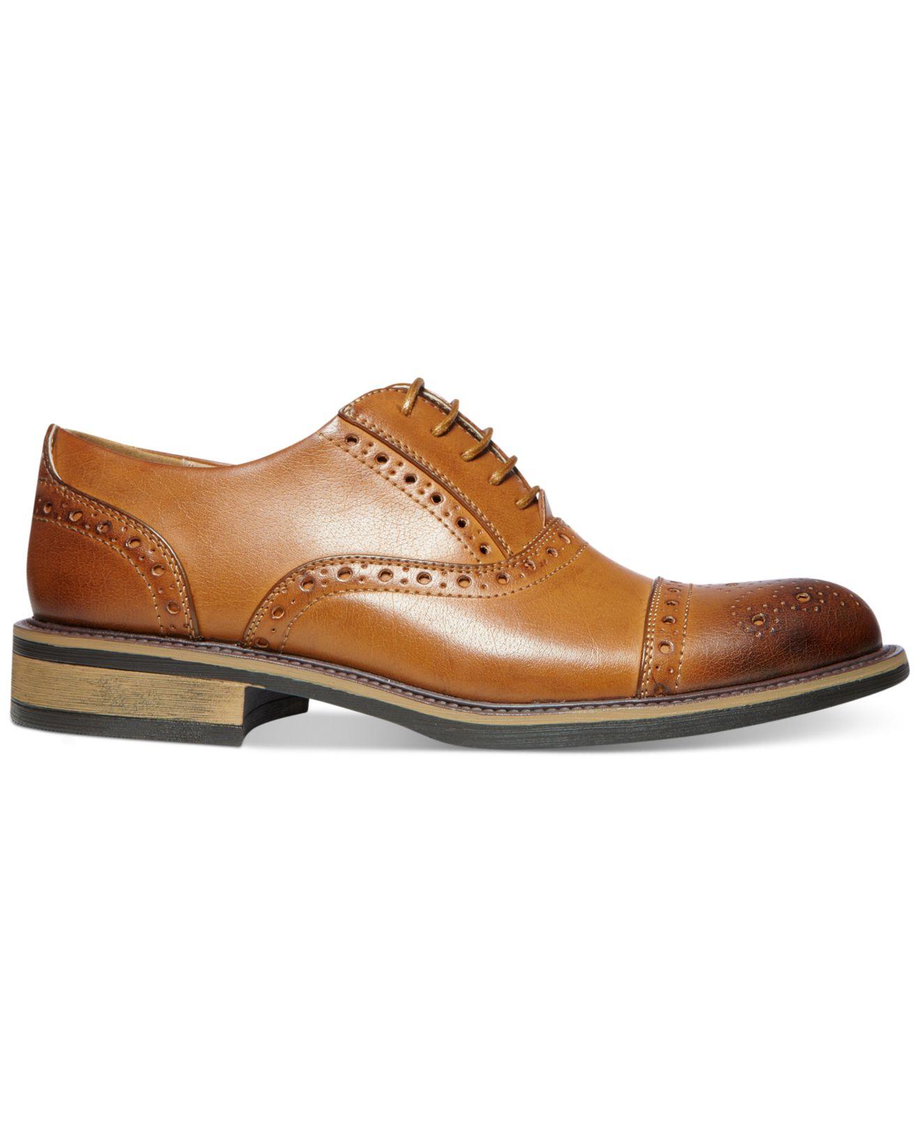 50f1c3f5e0a Steve Madden Brown Madden Ziggy Cap Toe Dress Shoes for men