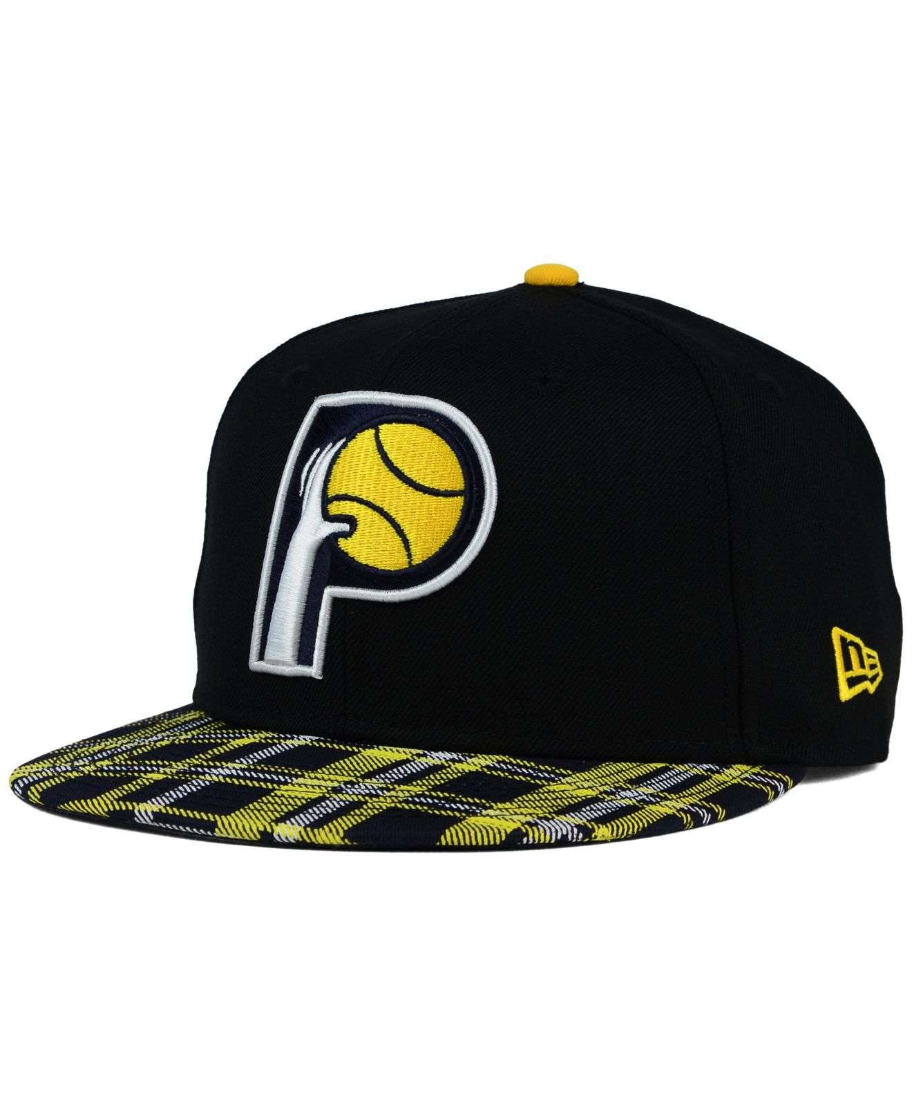 best sneakers a9151 549ee ... shopping lyst ktz indiana pacers plaid 9fifty snapback cap in black for  men bd814 779a4