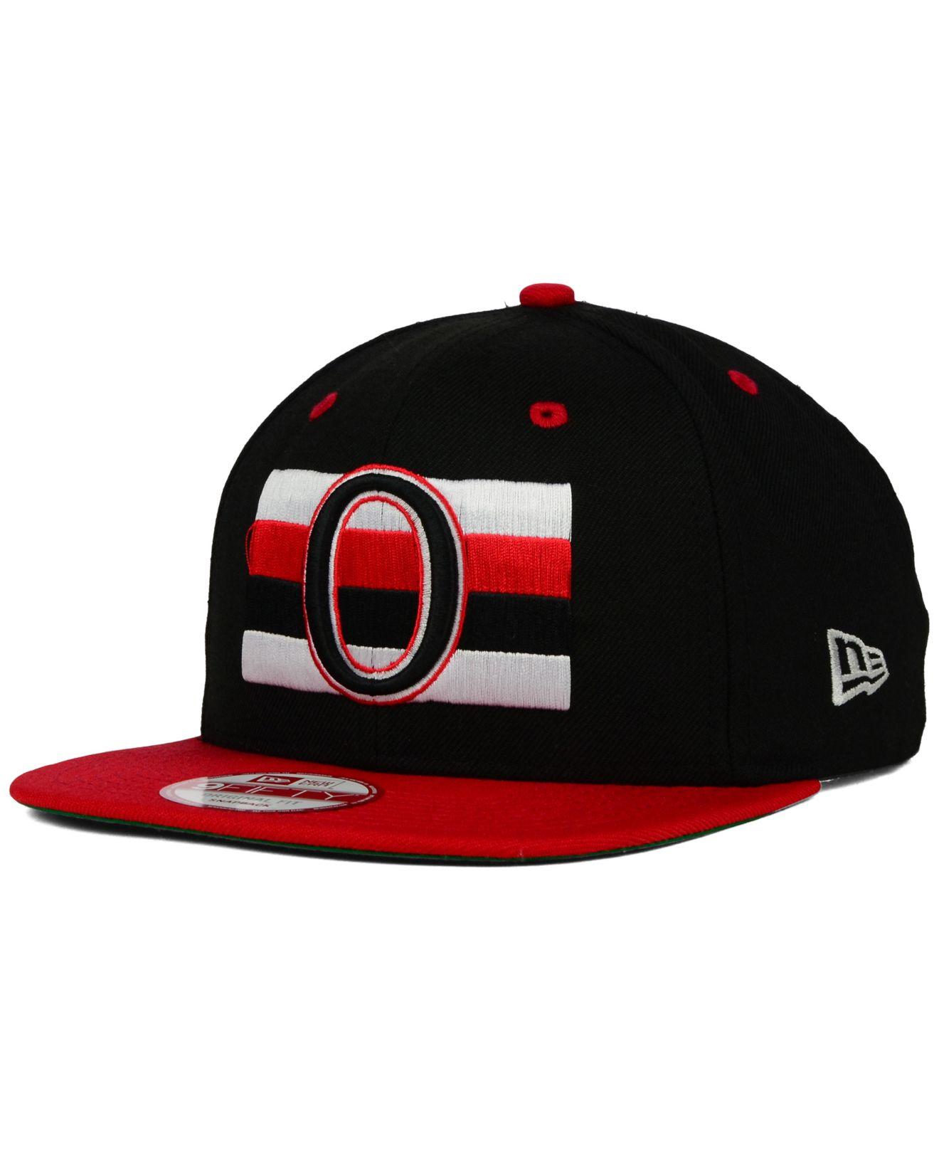 finest selection 16027 92e29 KTZ Ottawa Senators Vintage 2-tone 9fifty Snapback Cap in Black for ...