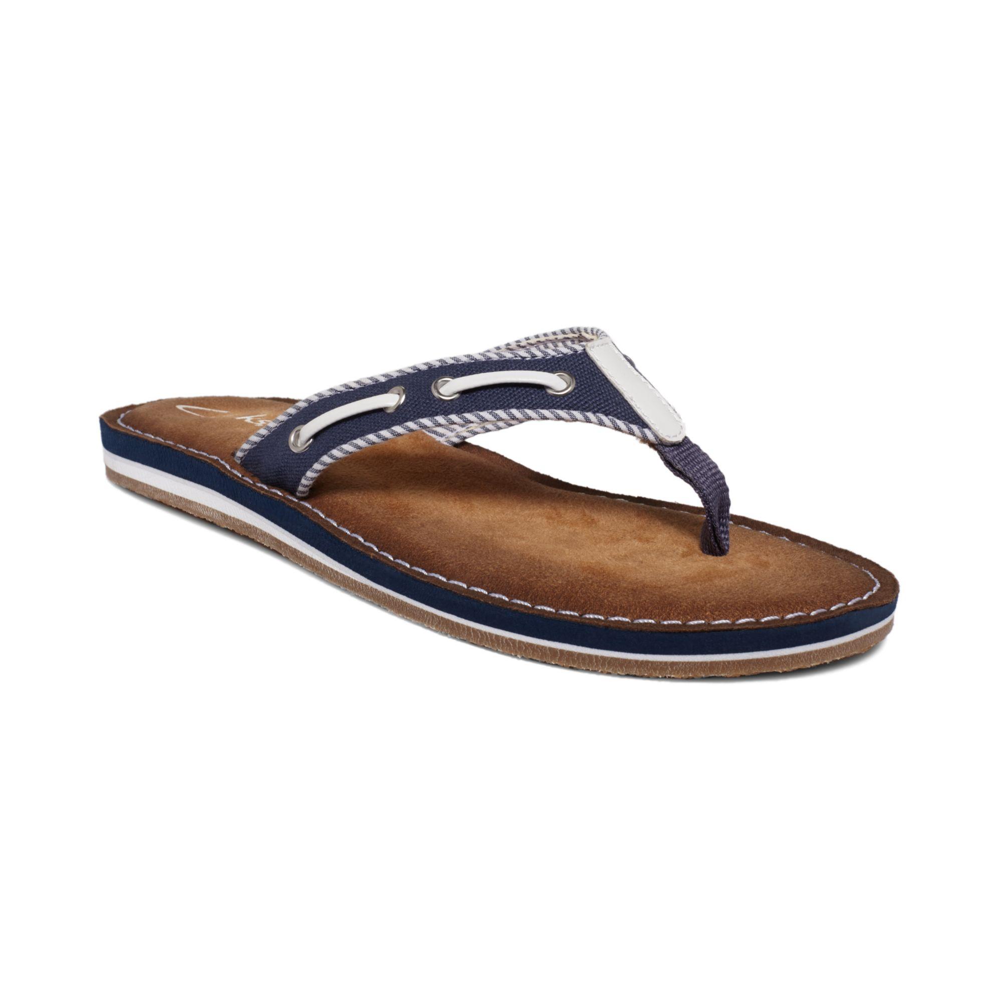 Clarks Womens Shoes Flo Cherrymore Flip Flops in Blue (Navy)