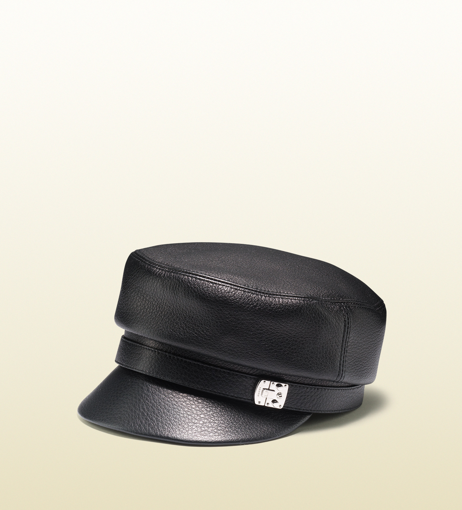 aa239297 Gucci Leather Driver Cap in Black for Men - Lyst