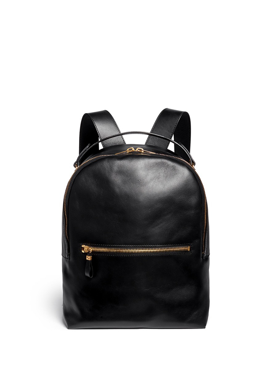 0de2c24c1021 Lyst - Sophie Hulme Round Leather Backpack in Black