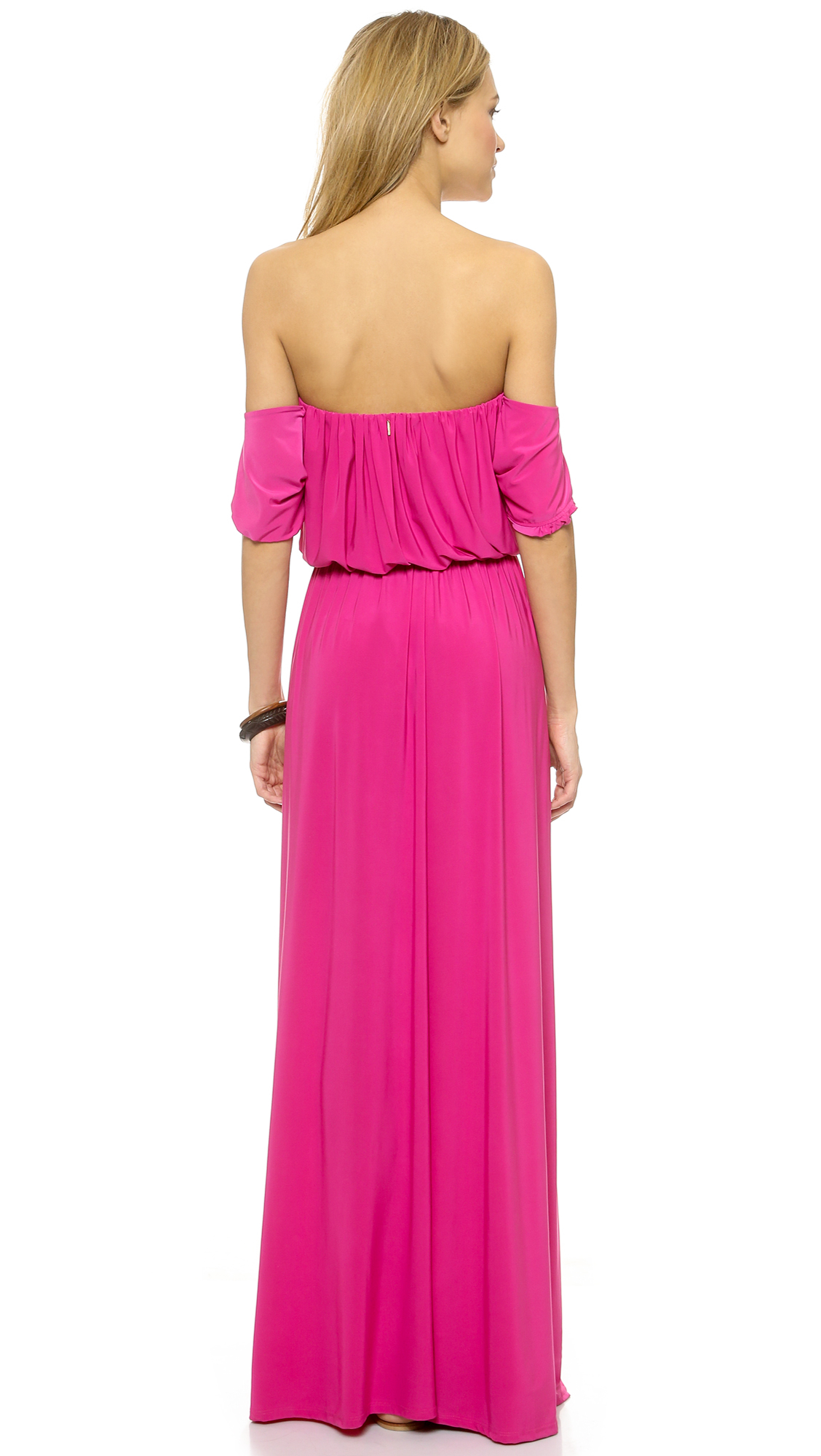 Tbags los angeles strapless tiered lace maxi dress
