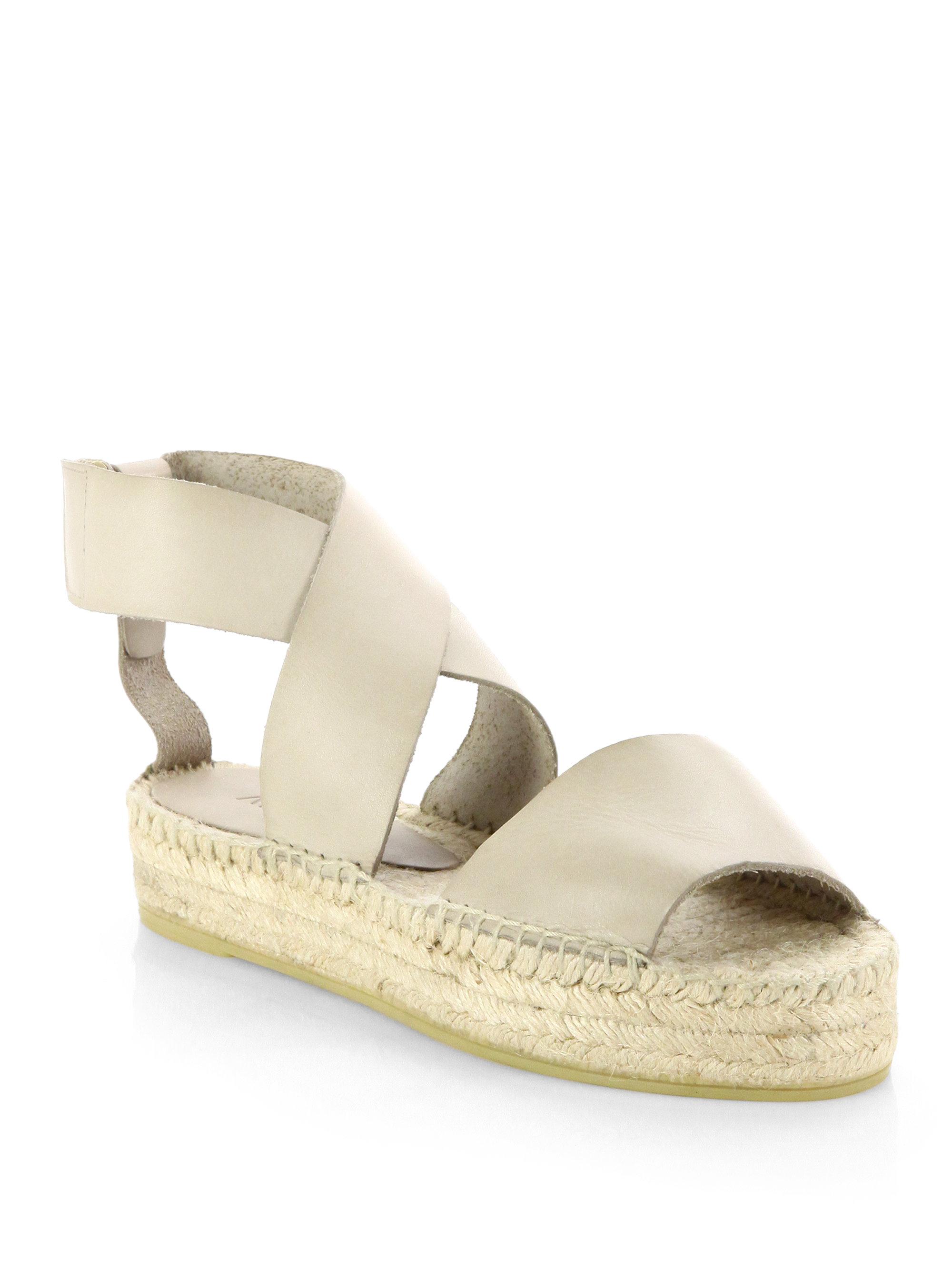 Vince Elise Leather Espadrille Sandals In Natural Lyst