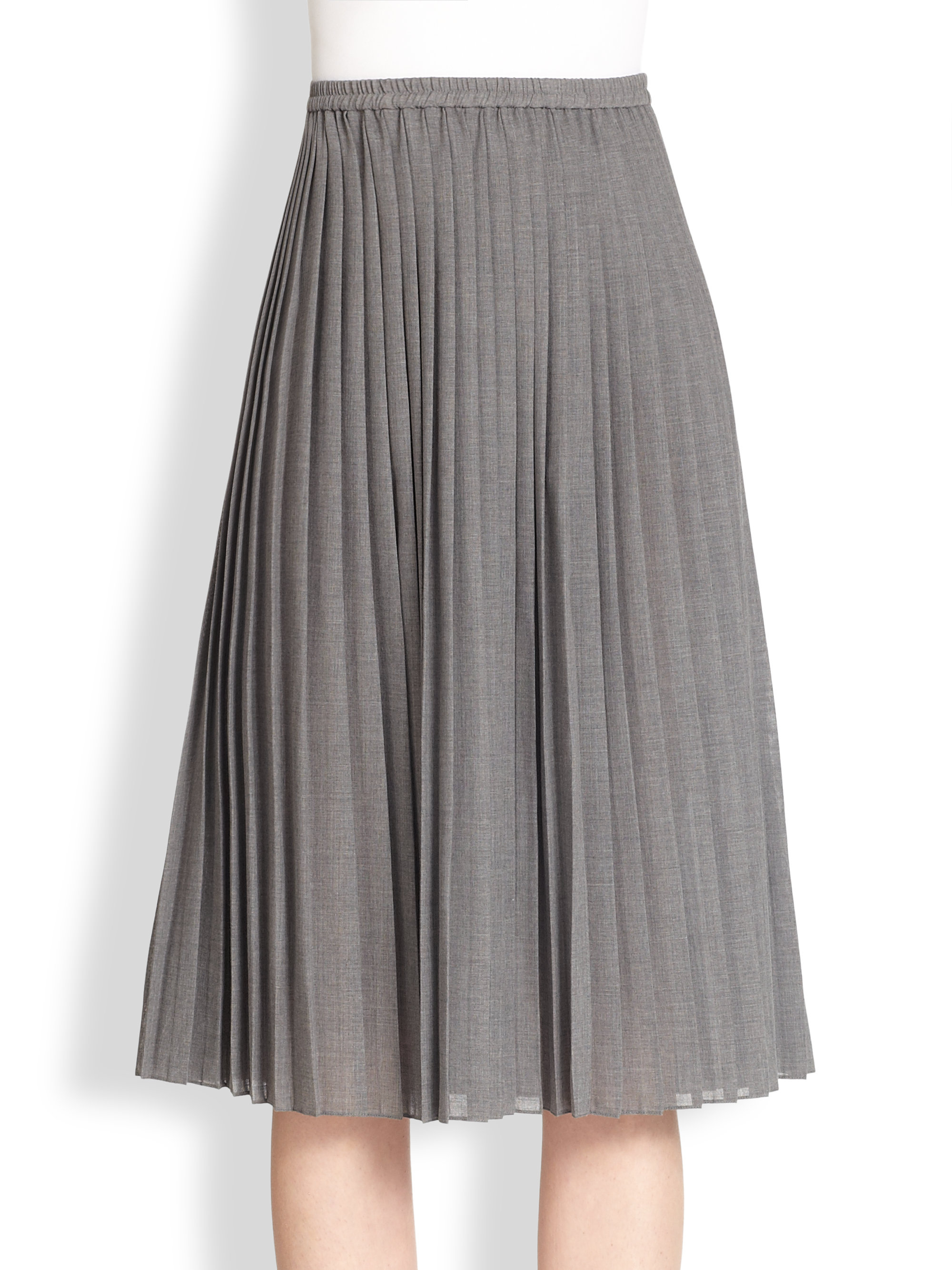 Gray Pleated Skirt - Dress Ala